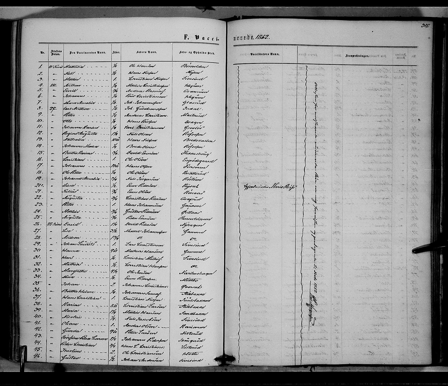 SAH, Vestre Toten prestekontor, Ministerialbok nr. 7, 1862-1869, s. 318