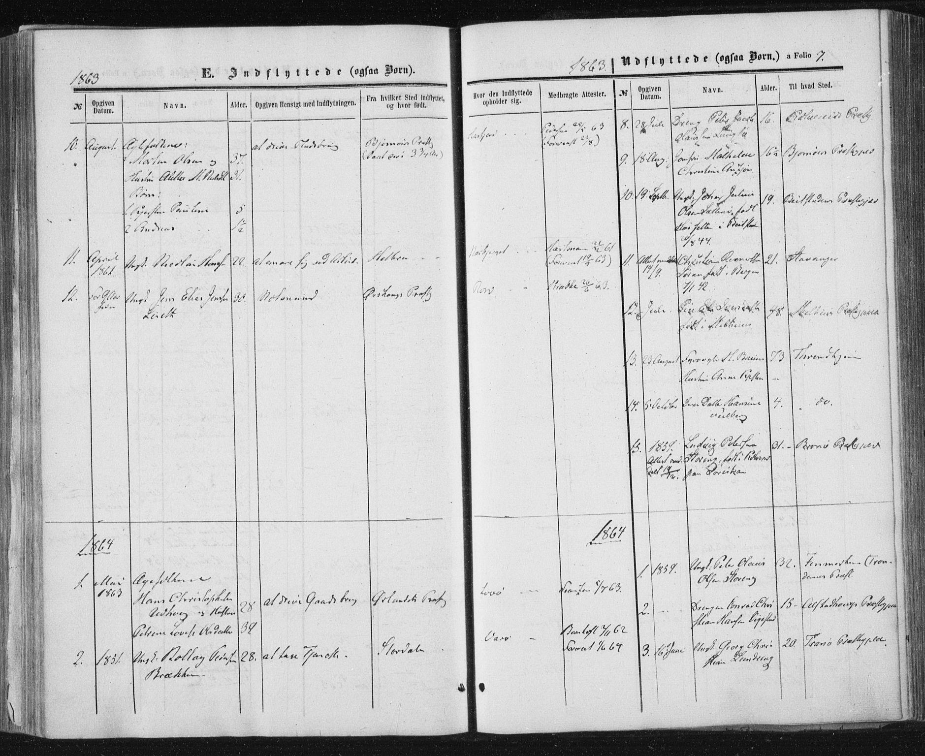 SAT, Ministerialprotokoller, klokkerbøker og fødselsregistre - Nord-Trøndelag, 784/L0670: Ministerialbok nr. 784A05, 1860-1876, s. 7