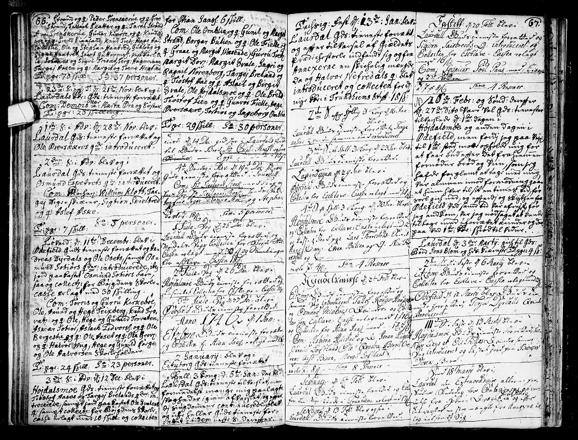 SAKO, Lårdal kirkebøker, F/Fa/L0002: Ministerialbok nr. I 2, 1734-1754, s. 66-67