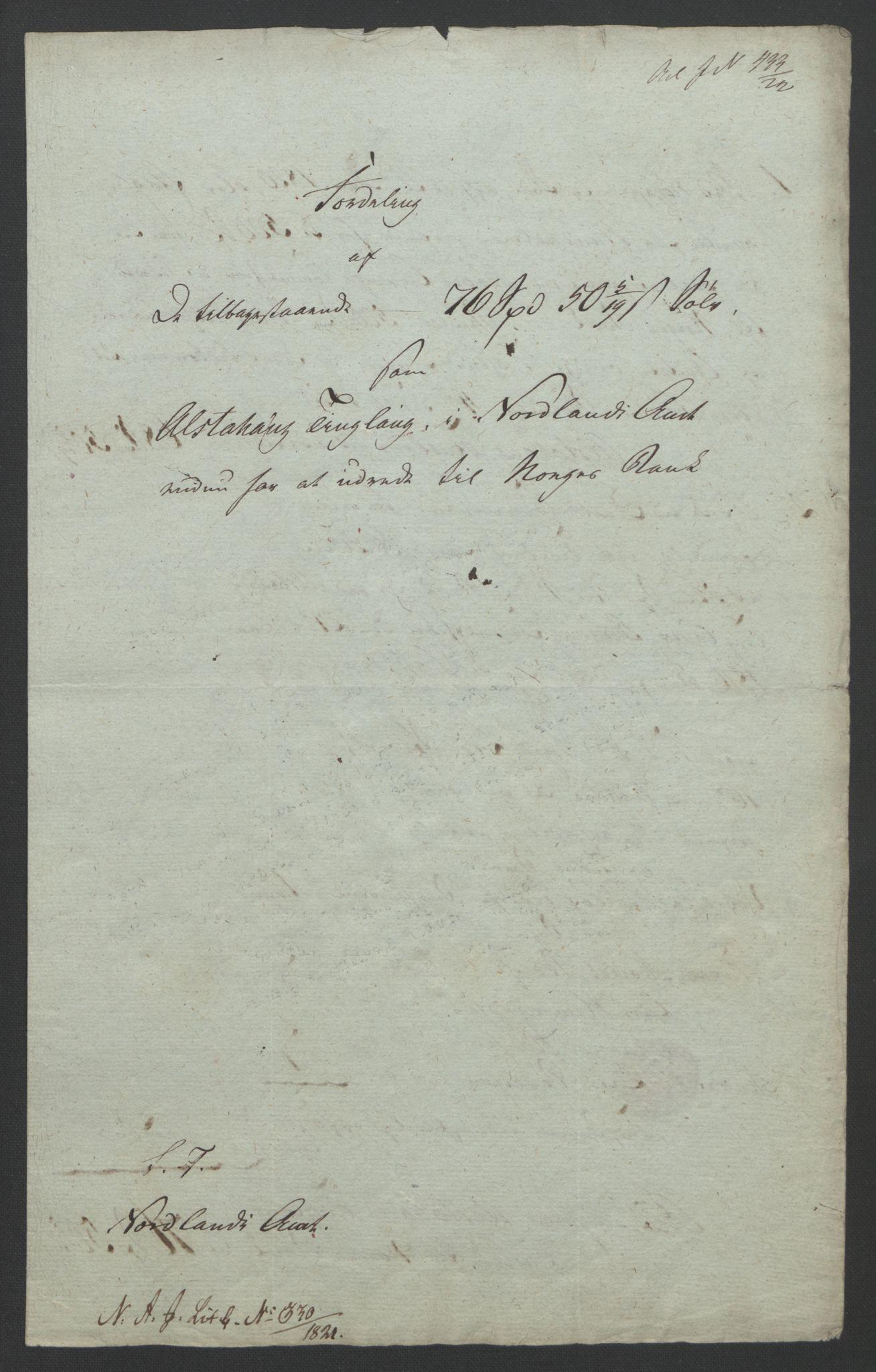 NOBA, Norges Bank/Sølvskatten 1816*, 1816-1823, s. 38