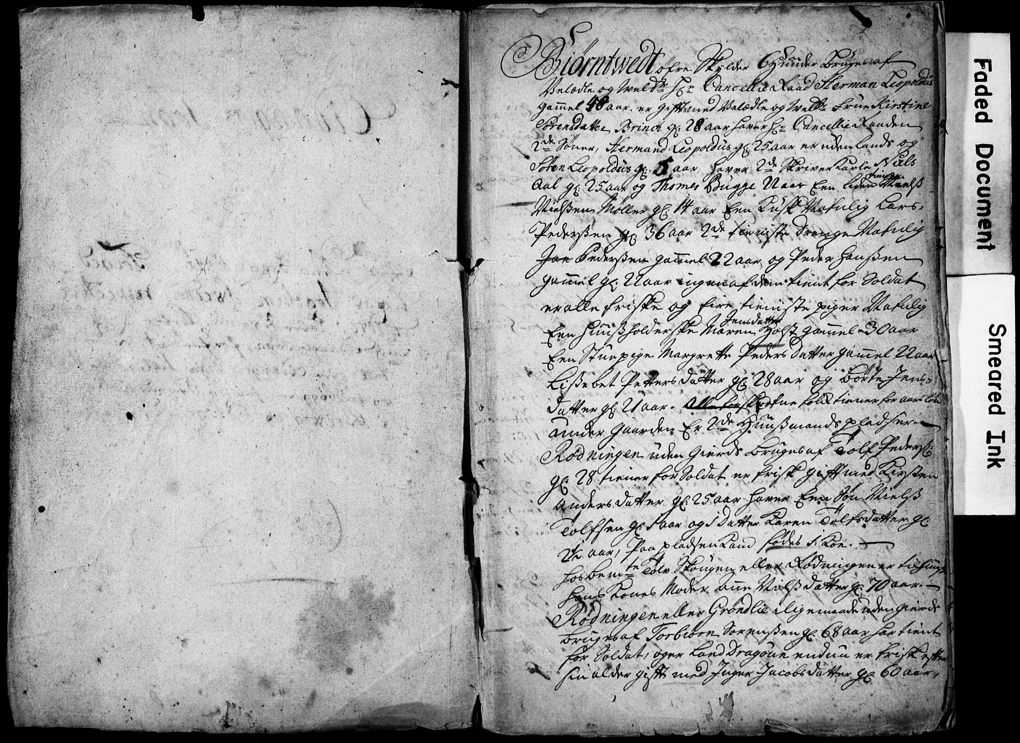 SAKO, Bratsberg Len og Amt, I/I34/L0342: Diverse manntall og fortegnelser, 1725, s. upaginert