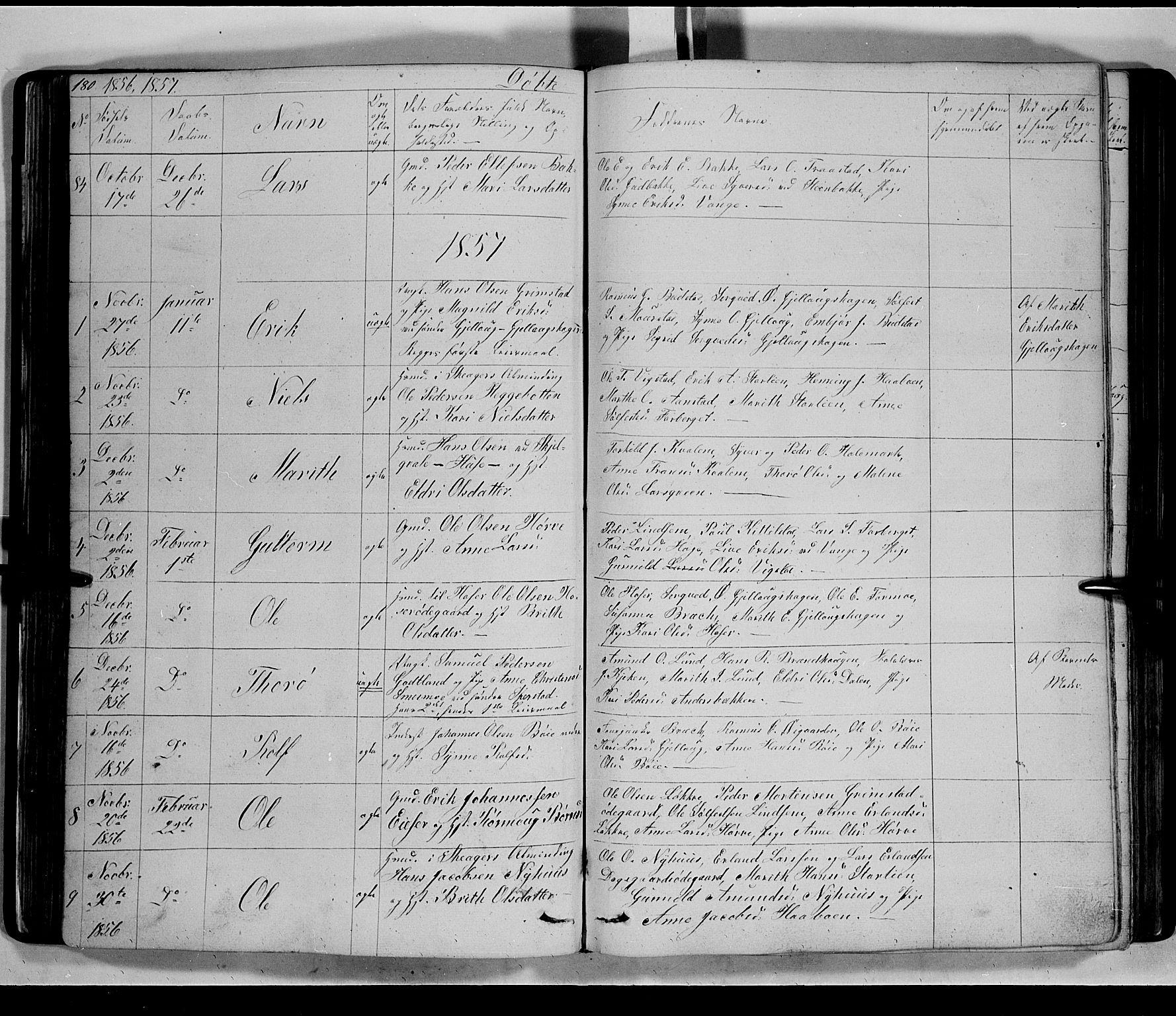 SAH, Lom prestekontor, L/L0004: Klokkerbok nr. 4, 1845-1864, s. 180-181