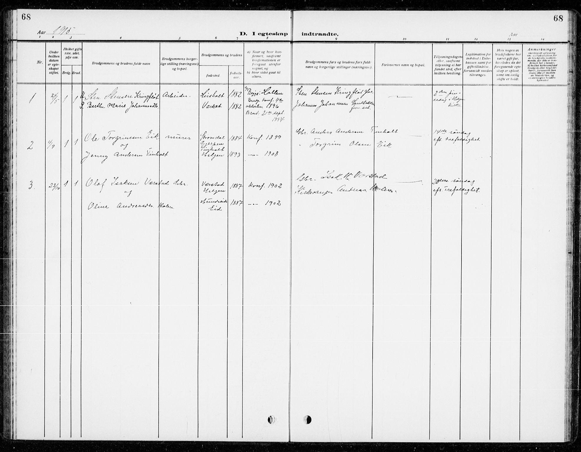 SAKO, Holla kirkebøker, G/Gb/L0003: Klokkerbok nr. II 3, 1914-1941, s. 68