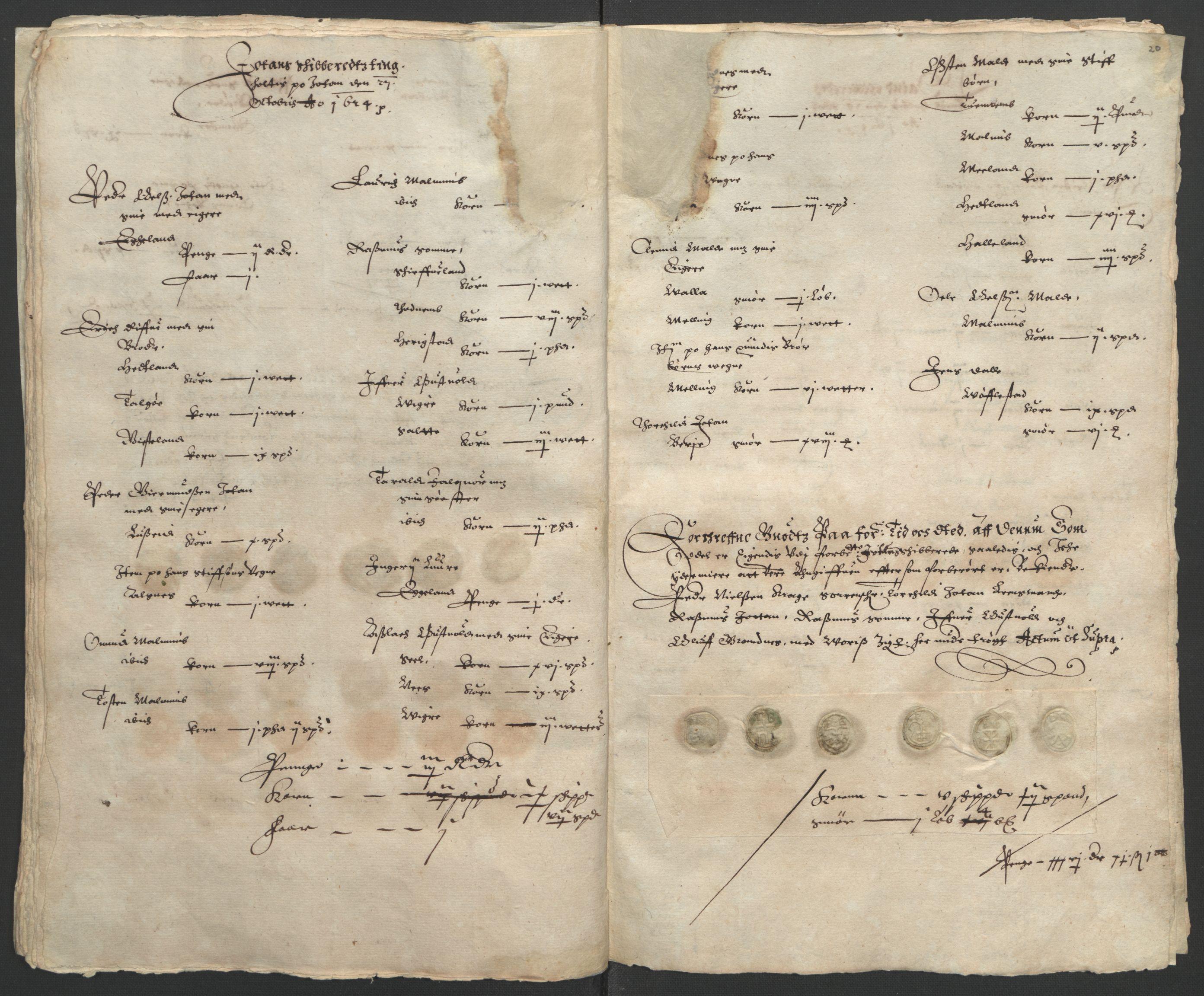 RA, Stattholderembetet 1572-1771, Ek/L0010: Jordebøker til utlikning av rosstjeneste 1624-1626:, 1624-1626, s. 54