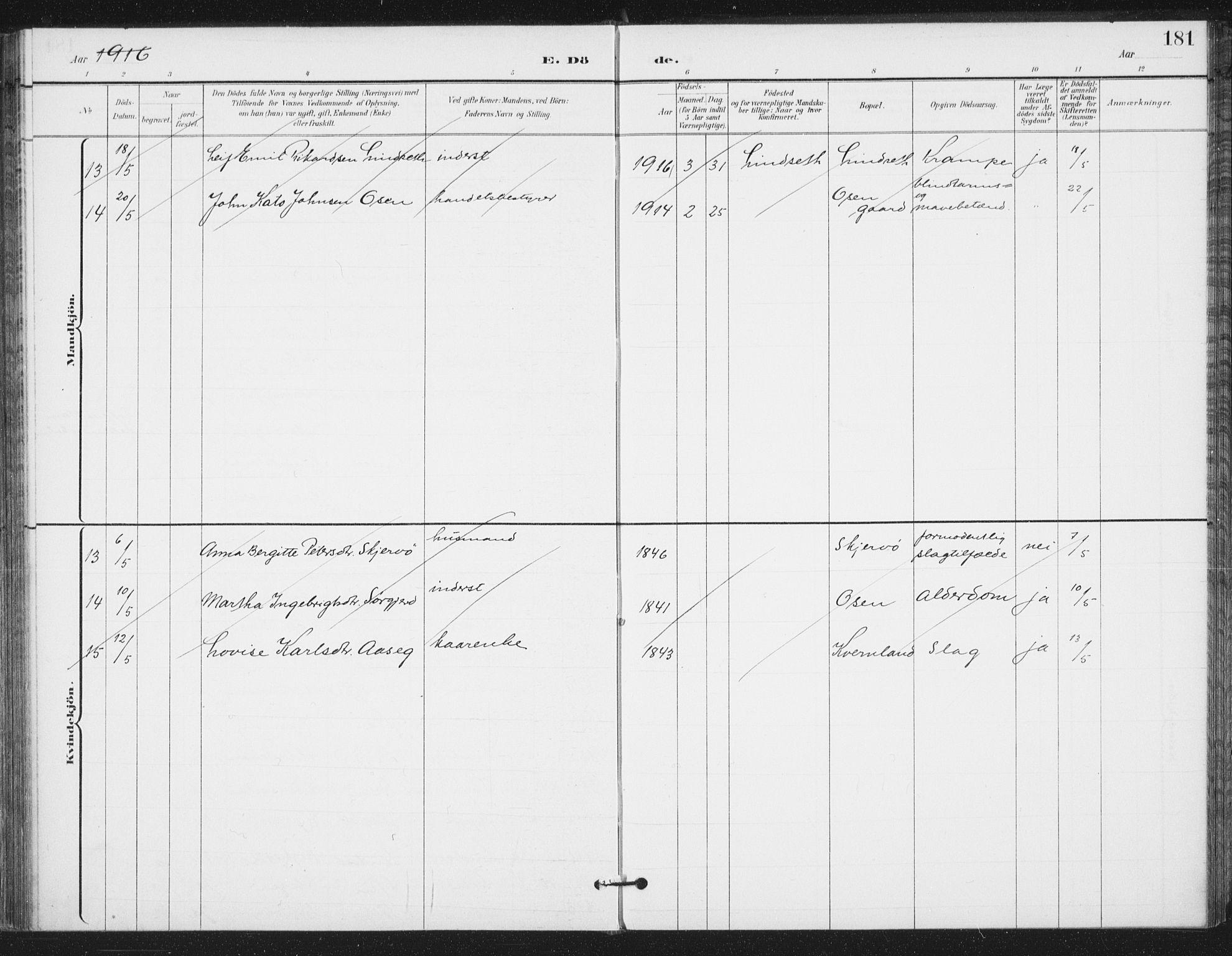 SAT, Ministerialprotokoller, klokkerbøker og fødselsregistre - Sør-Trøndelag, 658/L0723: Ministerialbok nr. 658A02, 1897-1912, s. 181