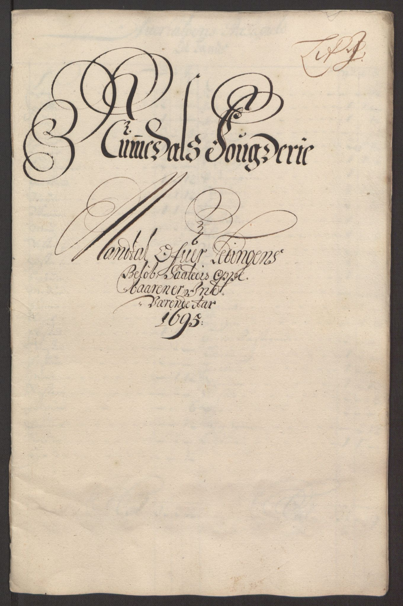 RA, Rentekammeret inntil 1814, Reviderte regnskaper, Fogderegnskap, R64/L4424: Fogderegnskap Namdal, 1692-1695, s. 497