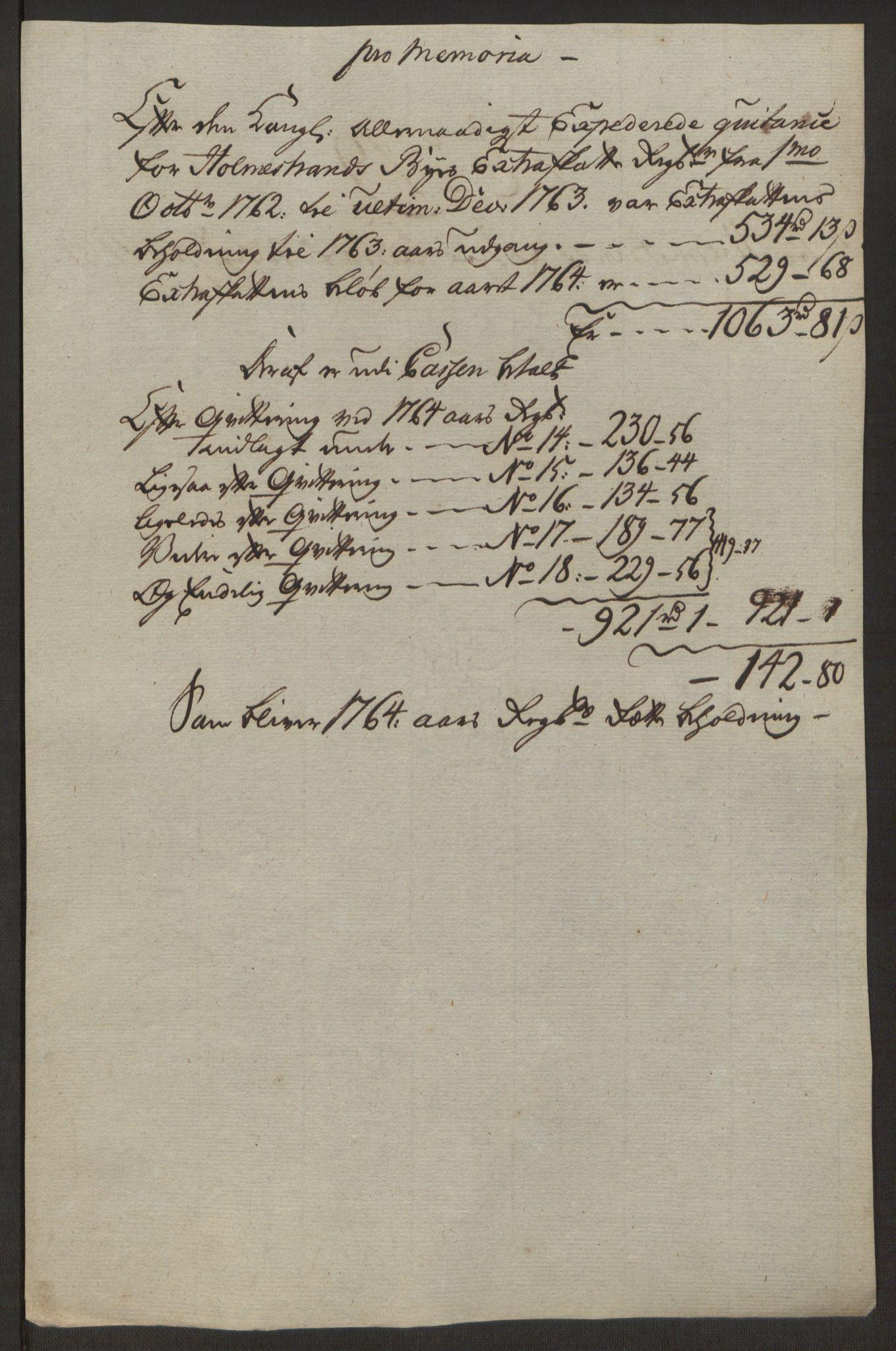 RA, Rentekammeret inntil 1814, Reviderte regnskaper, Byregnskaper, R/Rh/L0163: [H4] Kontribusjonsregnskap, 1762-1772, s. 179