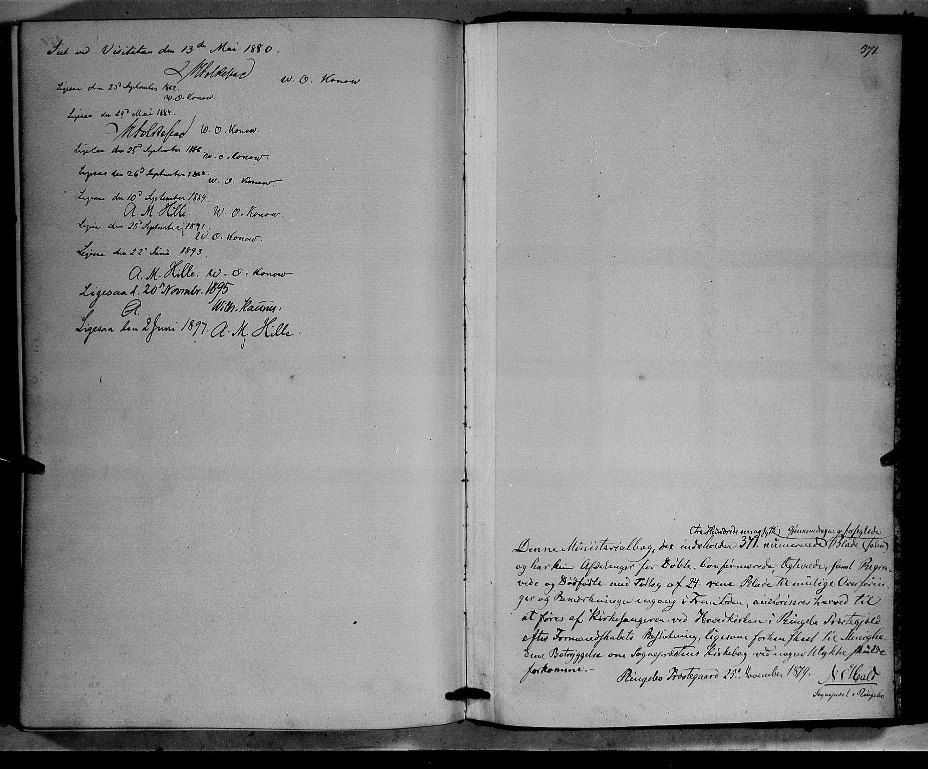 SAH, Ringebu prestekontor, Klokkerbok nr. 6, 1880-1898, s. 371