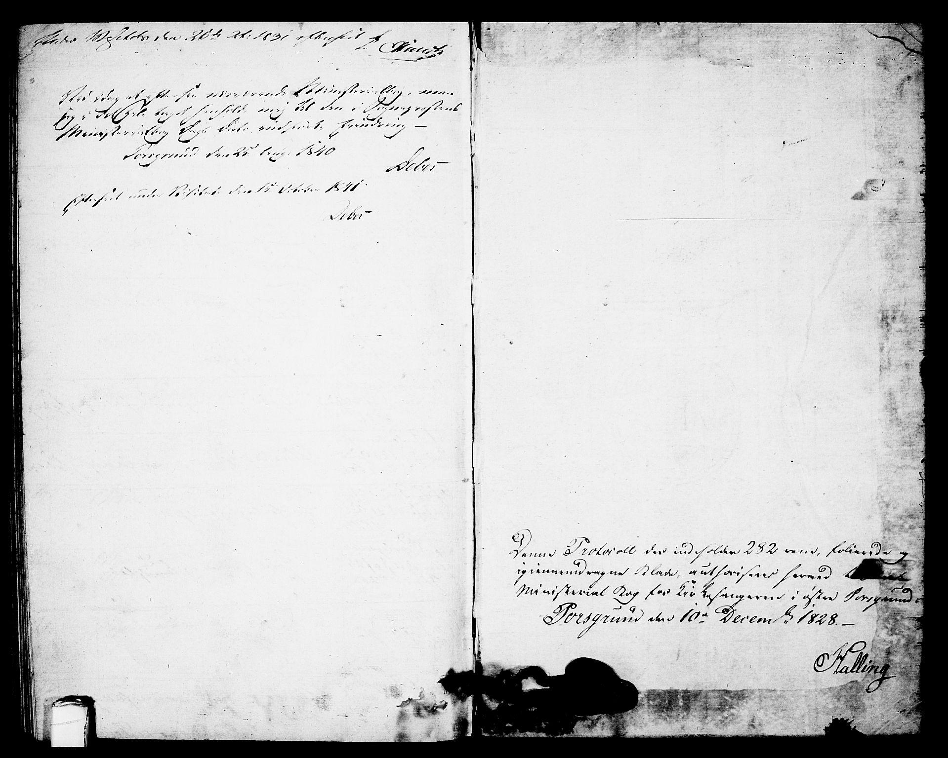SAKO, Porsgrunn kirkebøker , G/Gb/L0002: Klokkerbok nr. II 2, 1828-1841