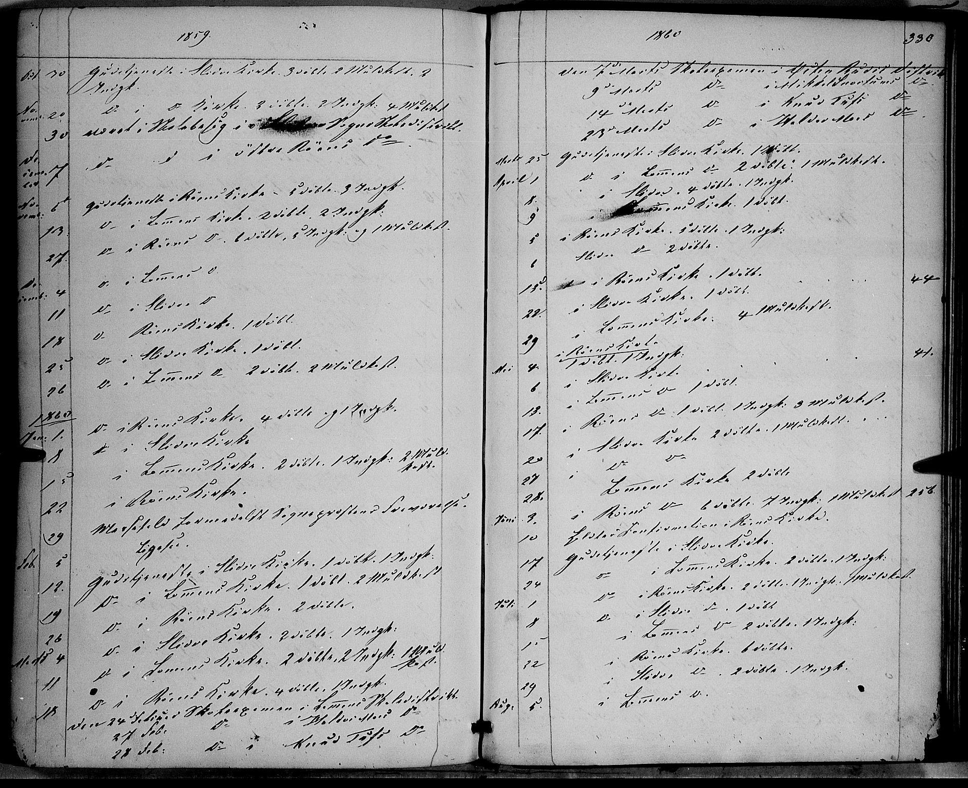 SAH, Vestre Slidre prestekontor, Ministerialbok nr. 2, 1856-1864, s. 330