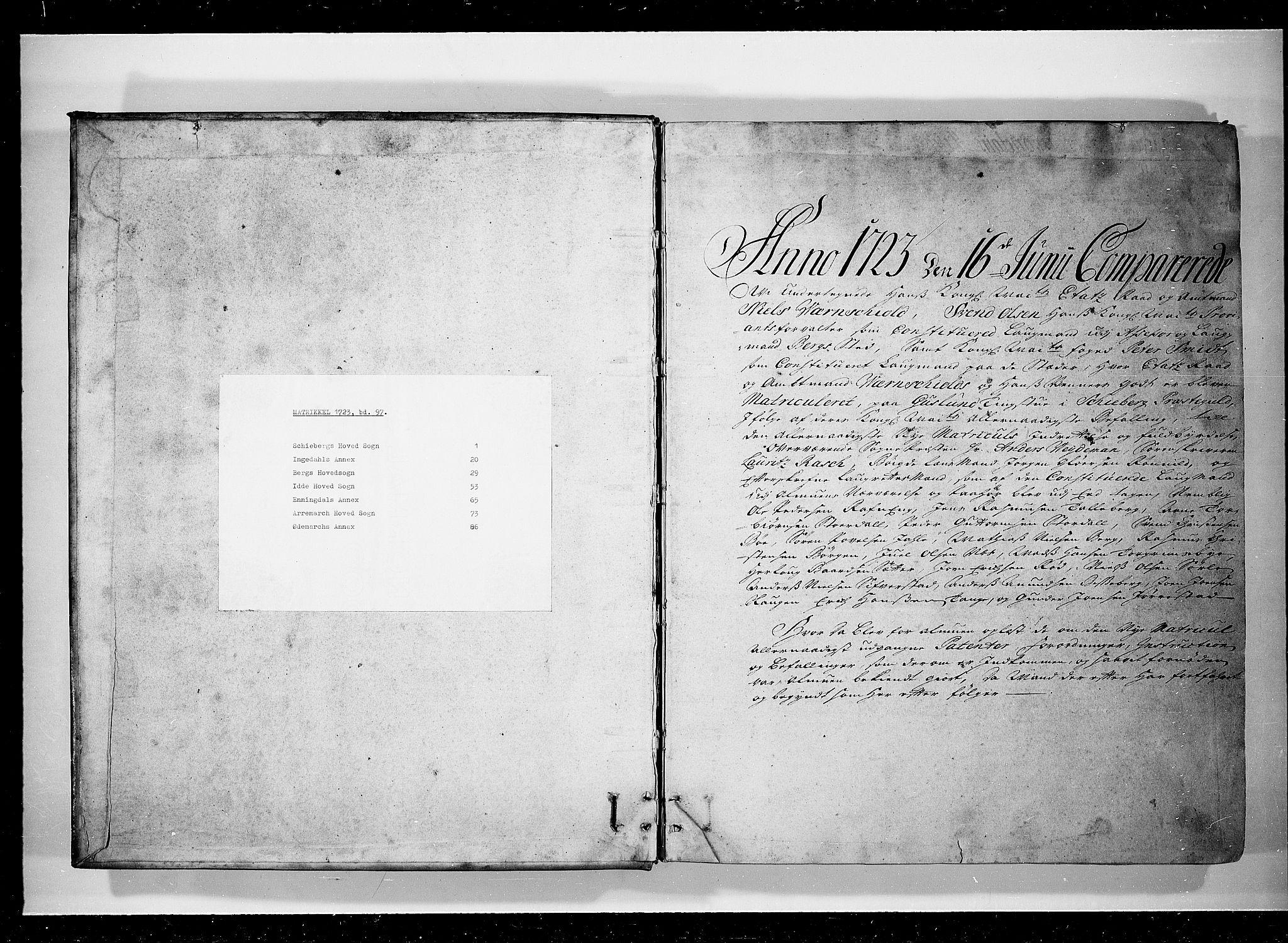 RA, Rentekammeret inntil 1814, Realistisk ordnet avdeling, N/Nb/Nbf/L0097: Idd og Marker eksaminasjonsprotokoll, 1723, s. upaginert