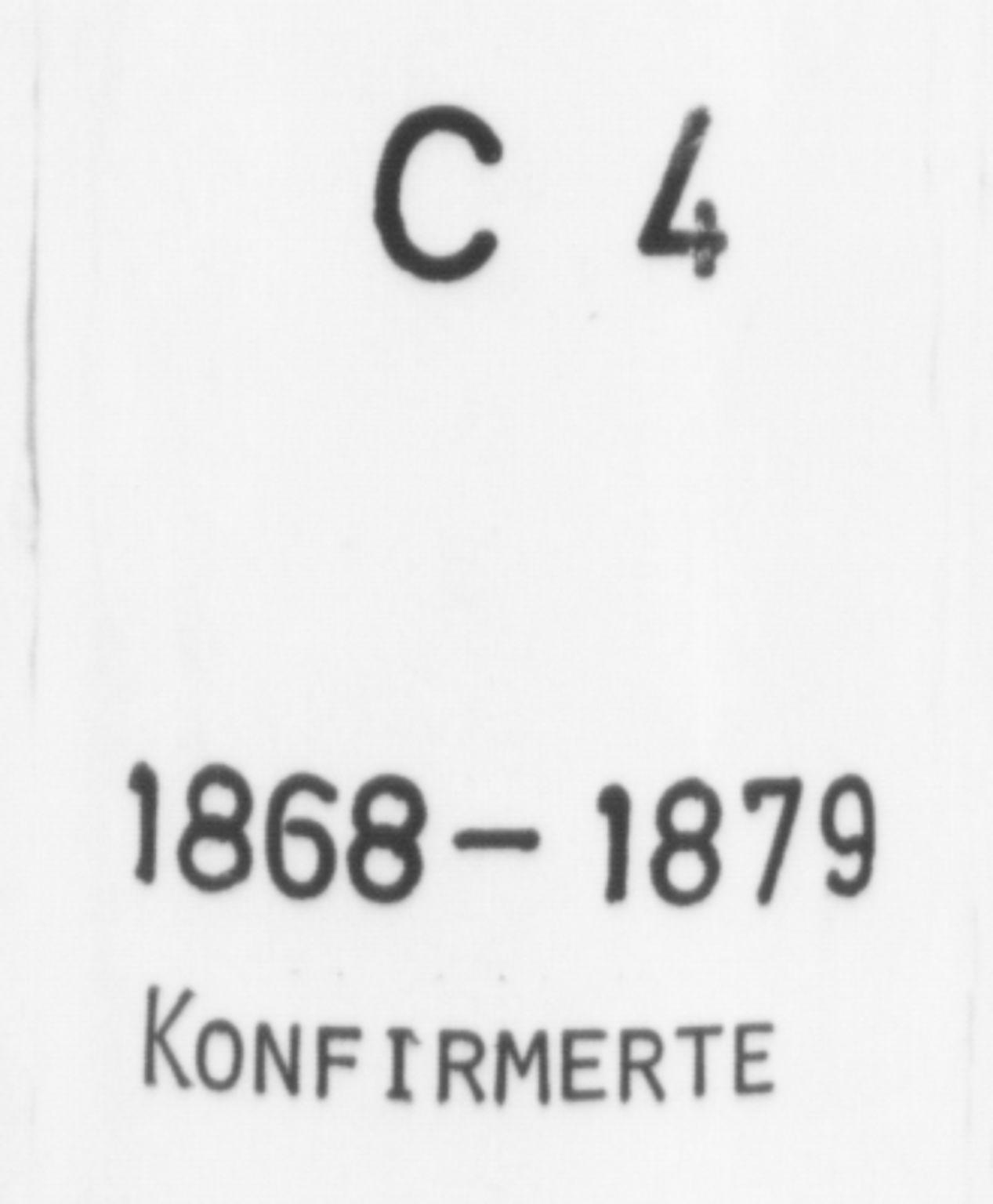 SAB, Korskirken Sokneprestembete, H/Haa/L0028: Ministerialbok nr. C 4, 1868-1879