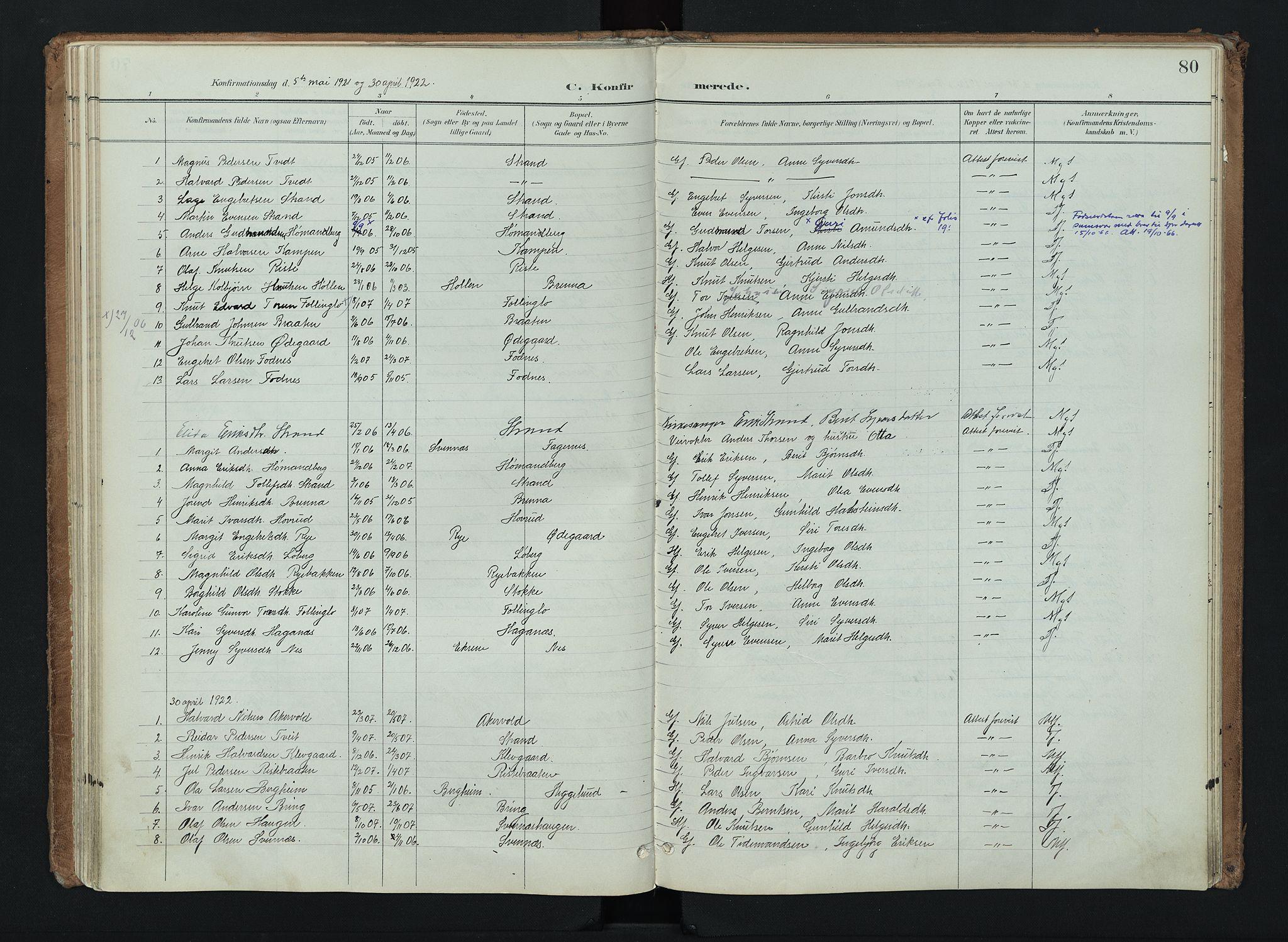 SAH, Nord-Aurdal prestekontor, Ministerialbok nr. 16, 1897-1925, s. 80