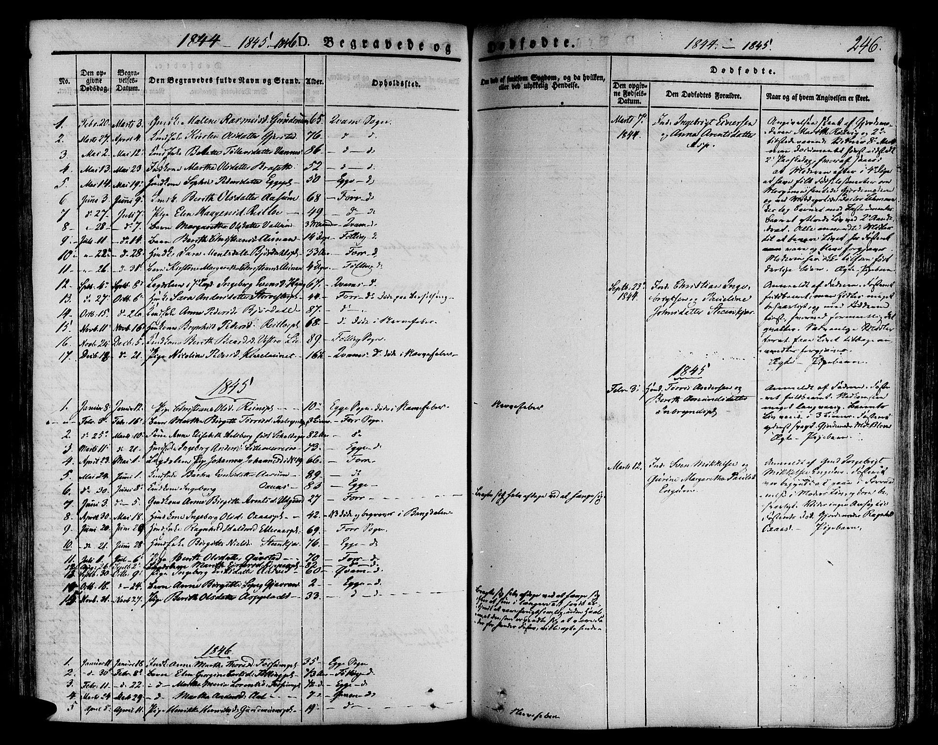 SAT, Ministerialprotokoller, klokkerbøker og fødselsregistre - Nord-Trøndelag, 746/L0445: Ministerialbok nr. 746A04, 1826-1846, s. 246