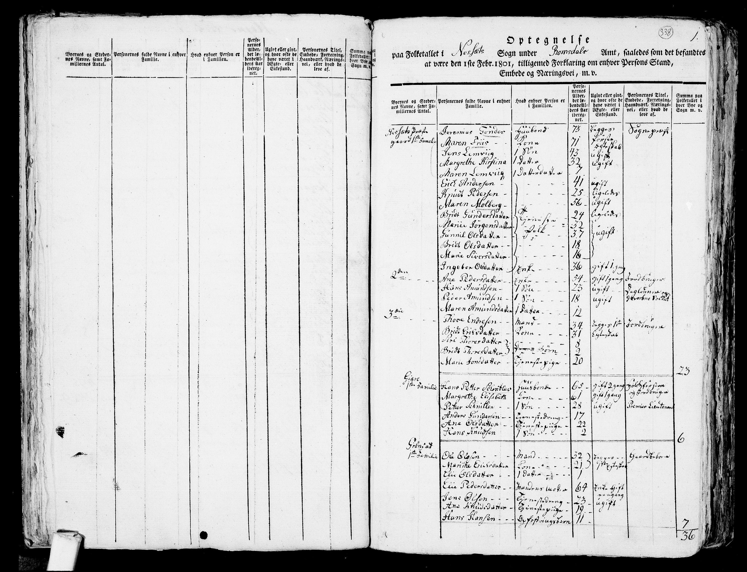 RA, Folketelling 1801 for 1543P Nesset prestegjeld, 1801, s. 337b-338a