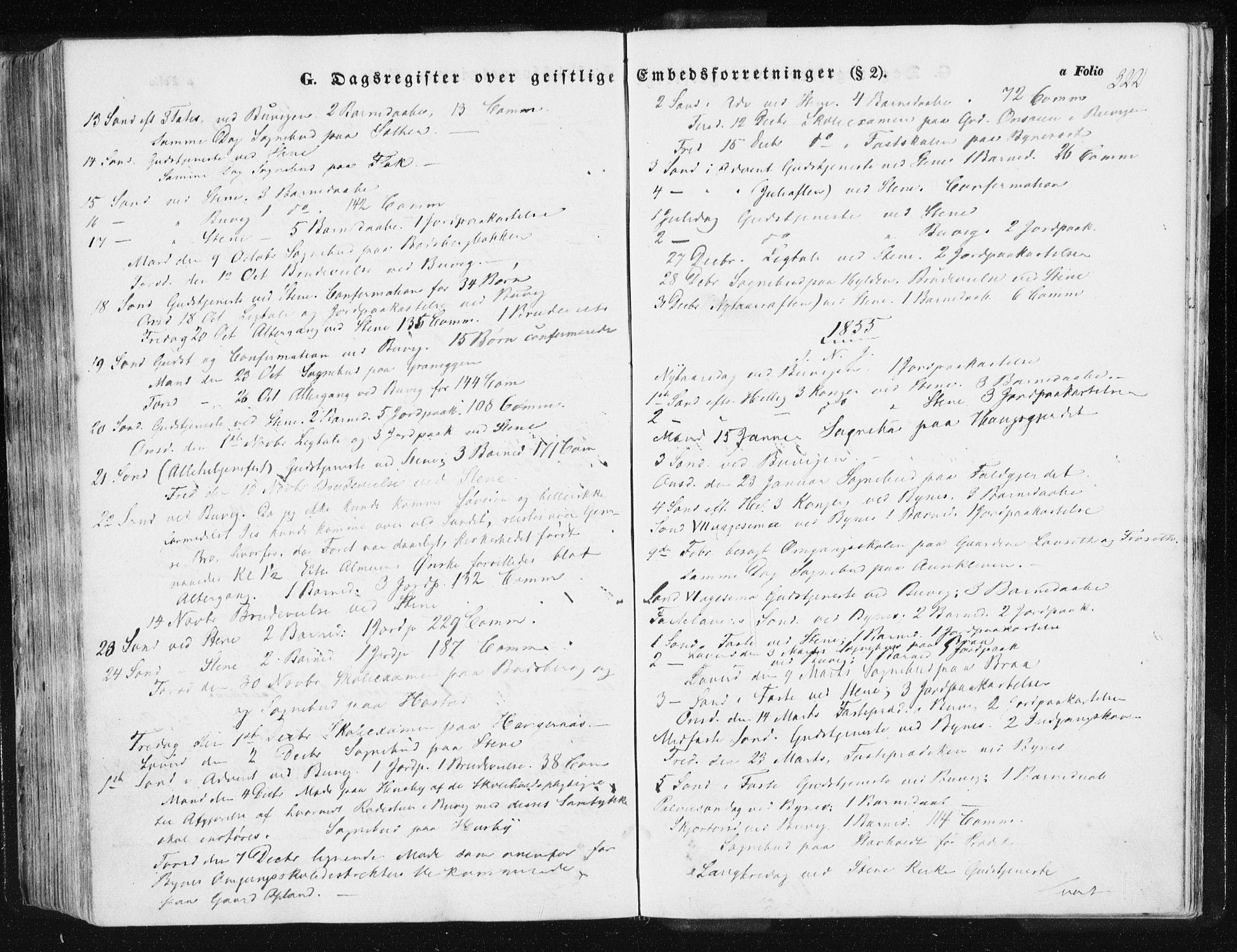 SAT, Ministerialprotokoller, klokkerbøker og fødselsregistre - Sør-Trøndelag, 612/L0376: Ministerialbok nr. 612A08, 1846-1859, s. 322