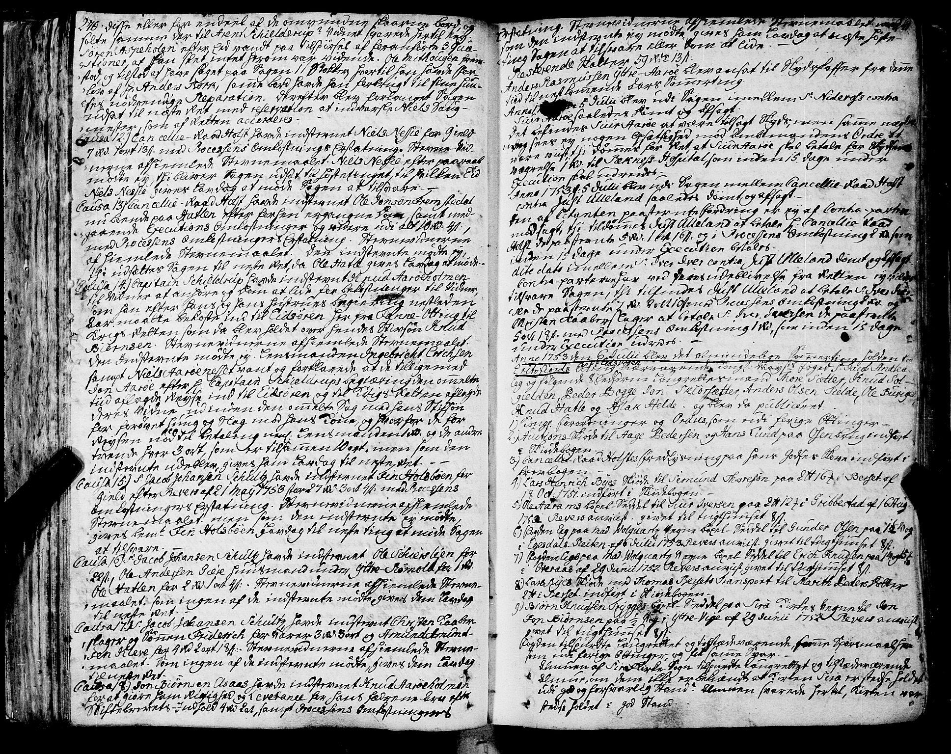 SAT, Romsdal sorenskriveri, 1/1A/L0013: Tingbok, 1749-1757, s. 240-241
