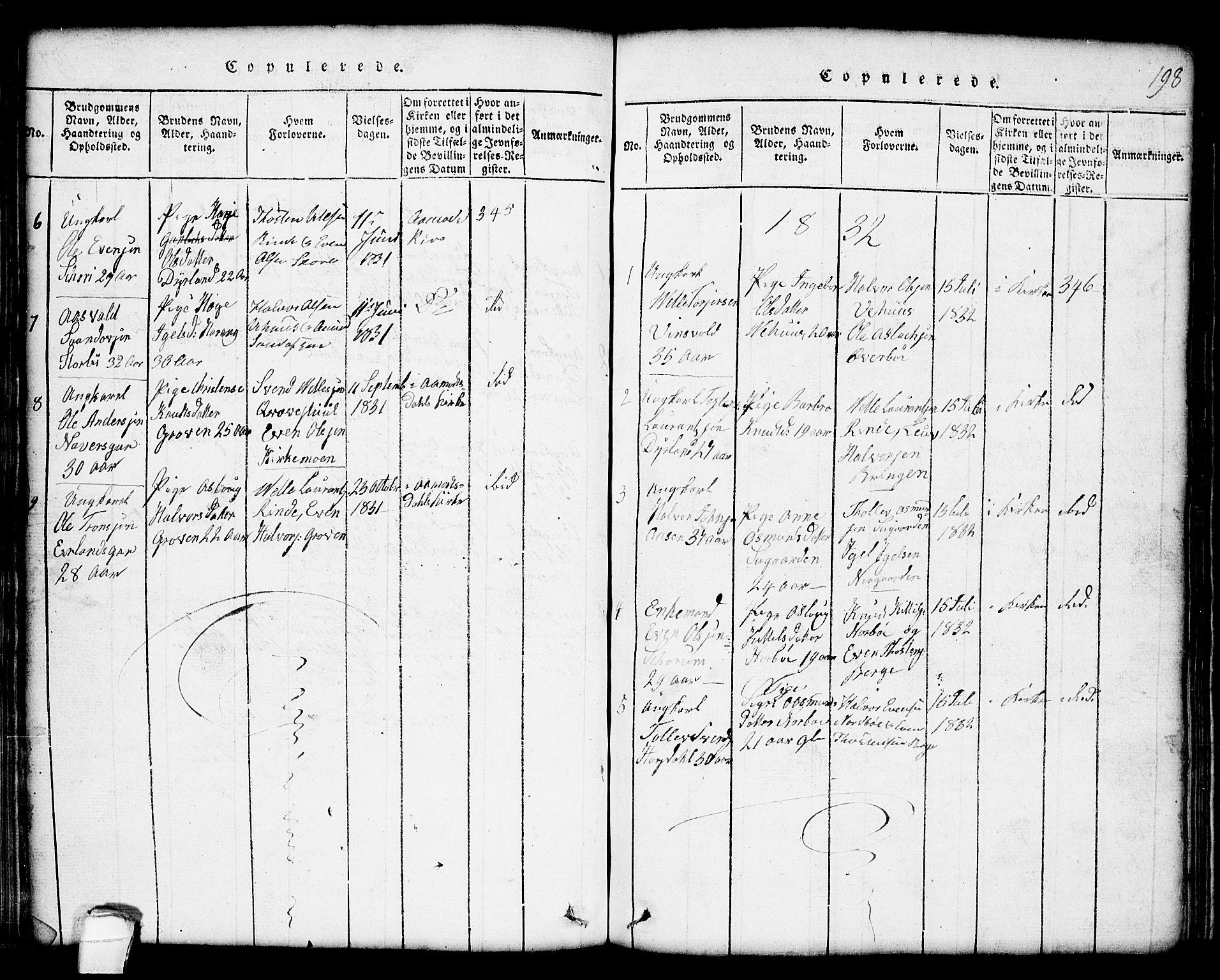 SAKO, Seljord kirkebøker, G/Gc/L0001: Klokkerbok nr. III 1, 1815-1849, s. 198