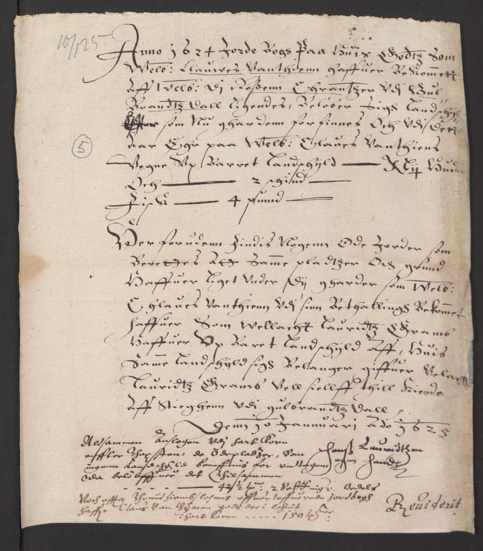 RA, Stattholderembetet 1572-1771, Ek/L0007: Jordebøker til utlikning av rosstjeneste 1624-1626:, 1624-1625, s. 505
