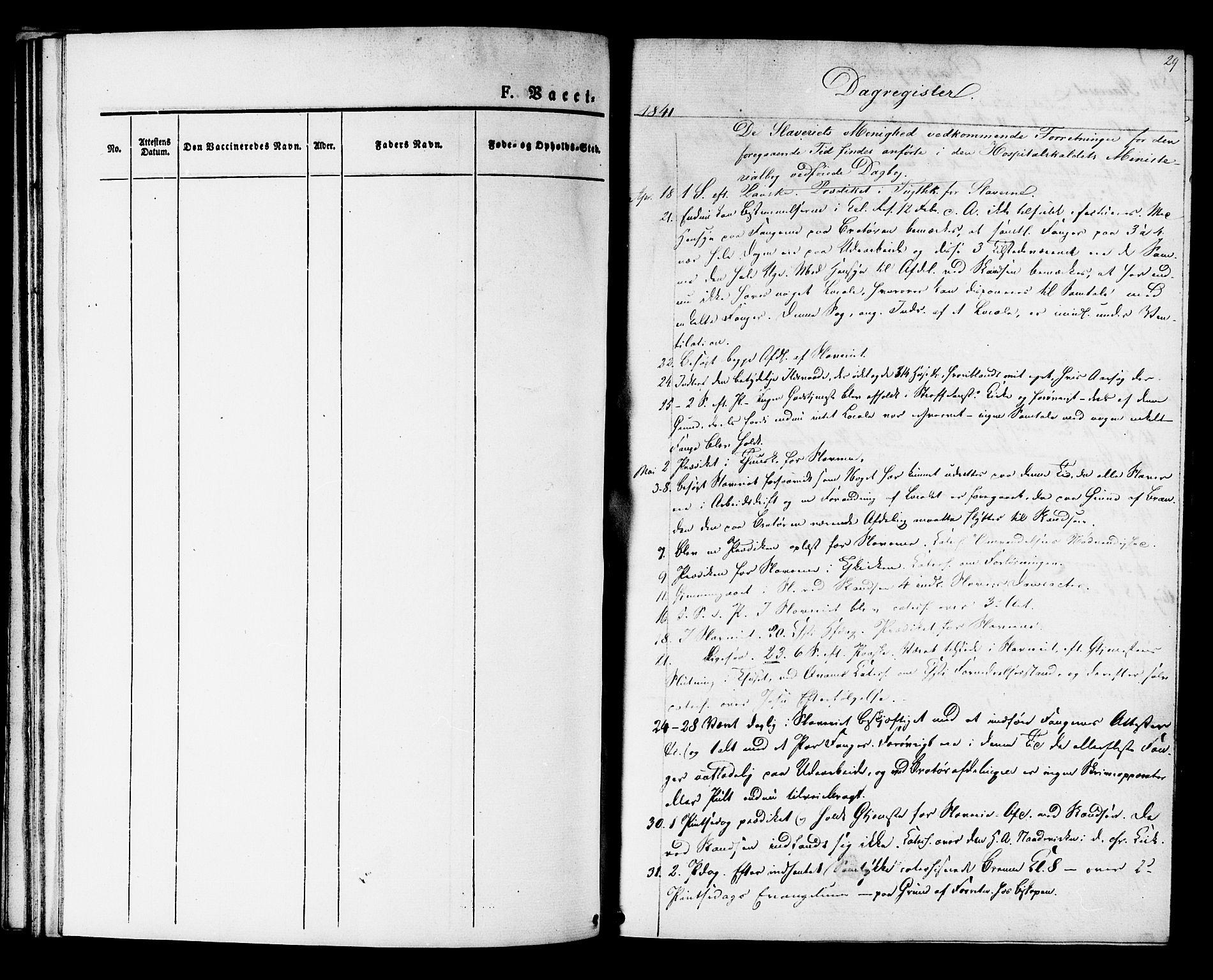 SAT, Ministerialprotokoller, klokkerbøker og fødselsregistre - Sør-Trøndelag, 624/L0481: Ministerialbok nr. 624A02, 1841-1869, s. 29