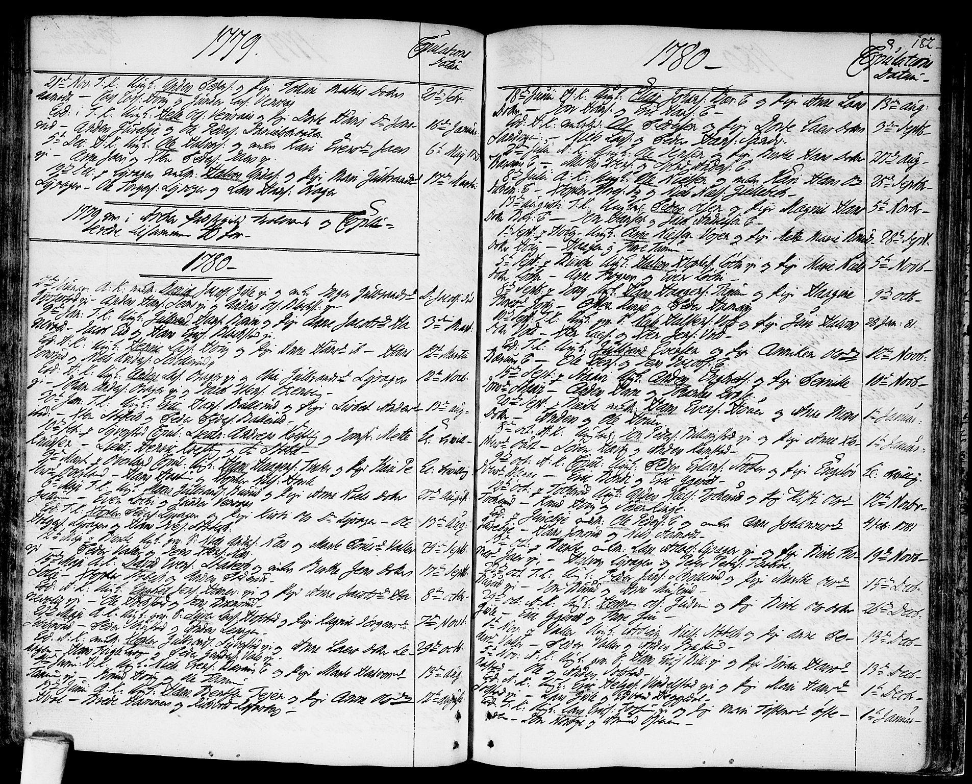 SAO, Asker prestekontor Kirkebøker, F/Fa/L0003: Ministerialbok nr. I 3, 1767-1807, s. 182