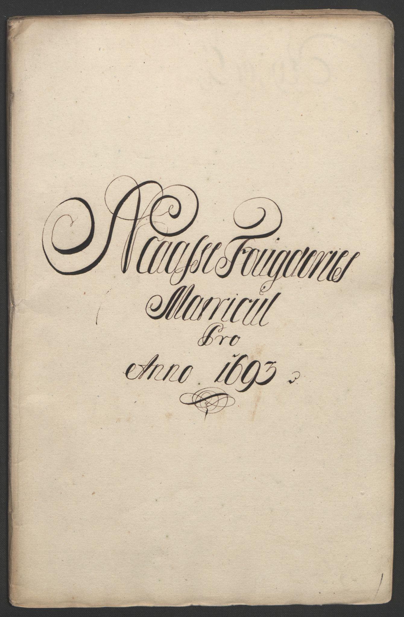 RA, Rentekammeret inntil 1814, Reviderte regnskaper, Fogderegnskap, R02/L0108: Fogderegnskap Moss og Verne kloster, 1692-1693, s. 258