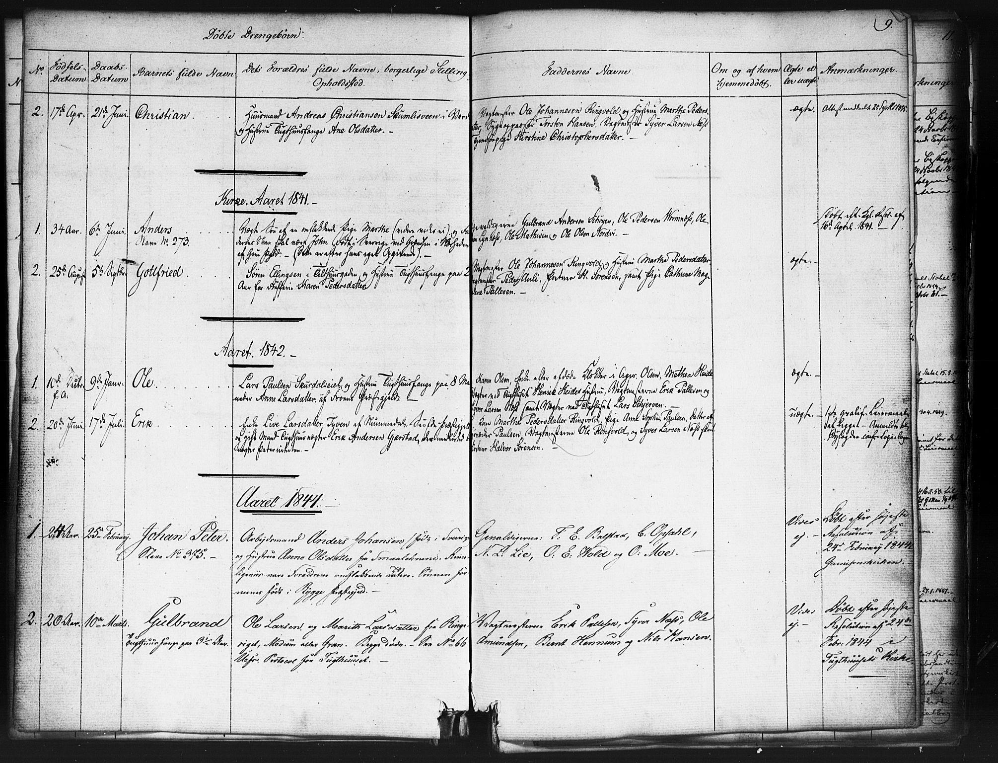SAO, Kristiania tukthusprest Kirkebøker, F/Fa/L0003: Ministerialbok nr. 3, 1831-1865, s. 9