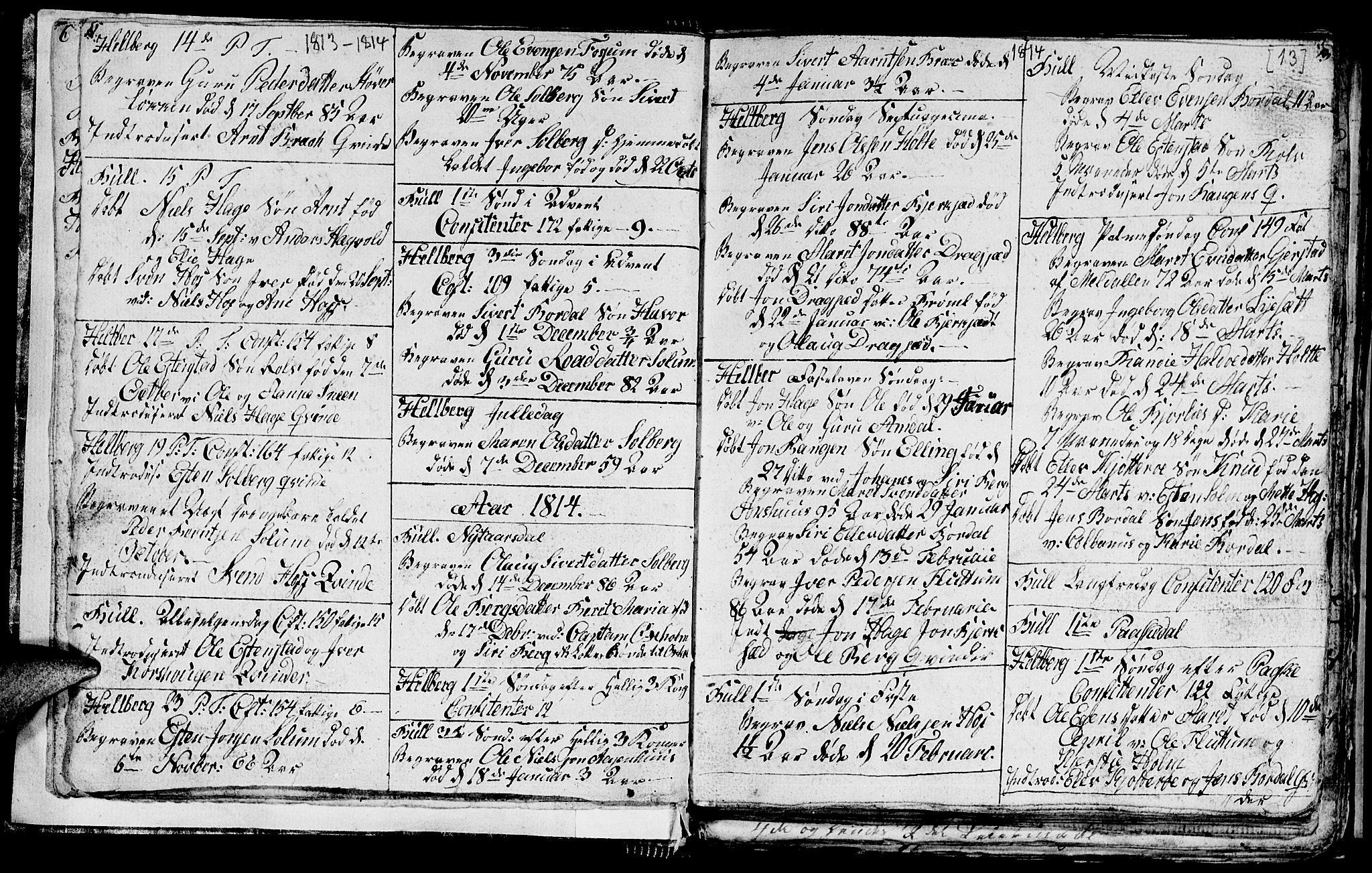 SAT, Ministerialprotokoller, klokkerbøker og fødselsregistre - Sør-Trøndelag, 689/L1042: Klokkerbok nr. 689C01, 1812-1841, s. 12-13