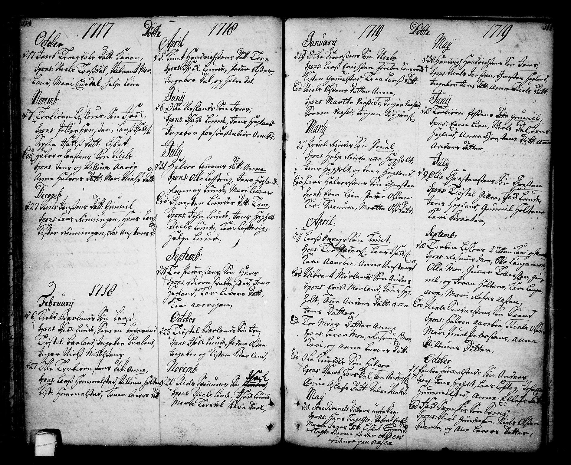 SAKO, Sannidal kirkebøker, F/Fa/L0001: Ministerialbok nr. 1, 1702-1766, s. 114-115
