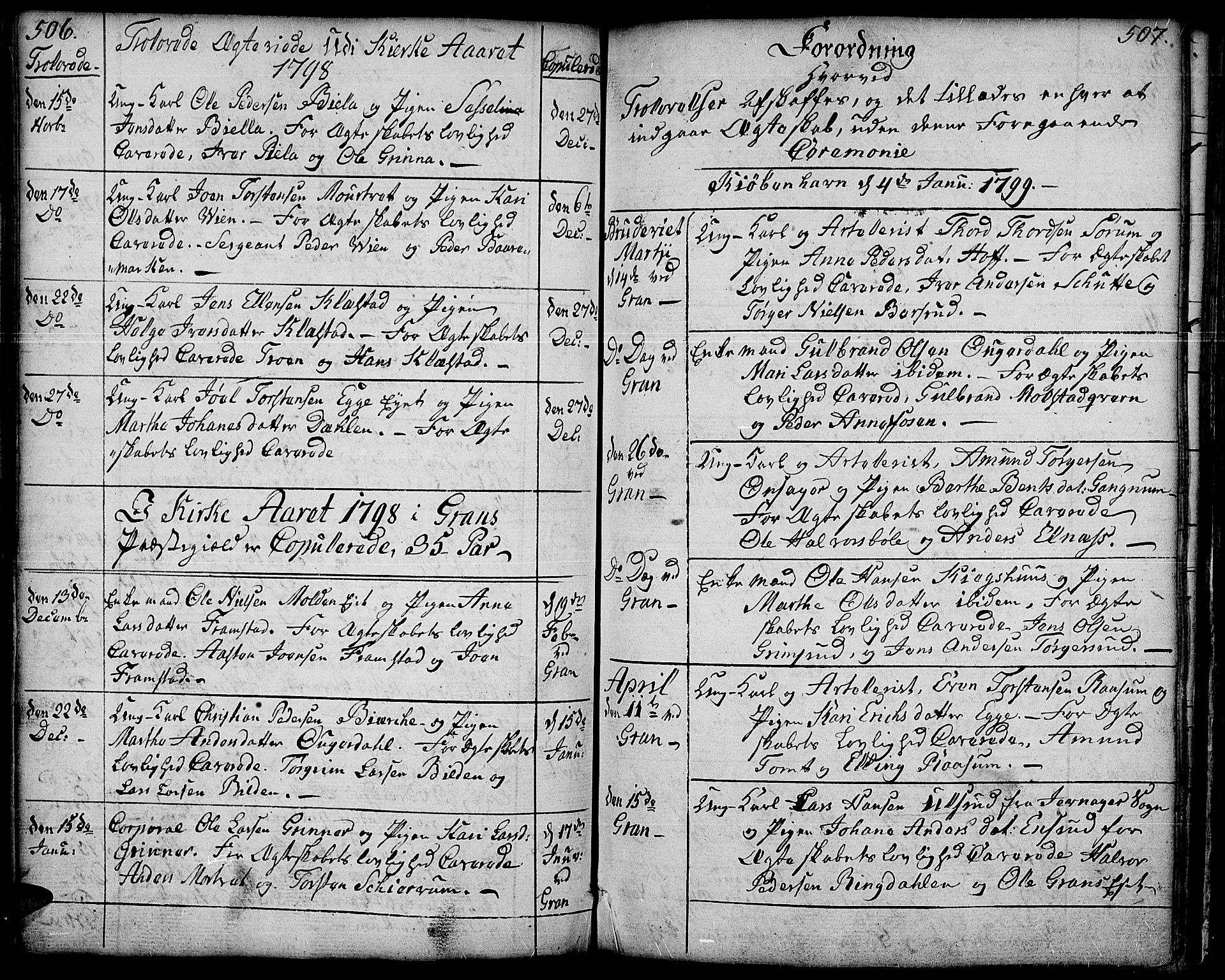 SAH, Gran prestekontor, Ministerialbok nr. 6, 1787-1824, s. 506-507