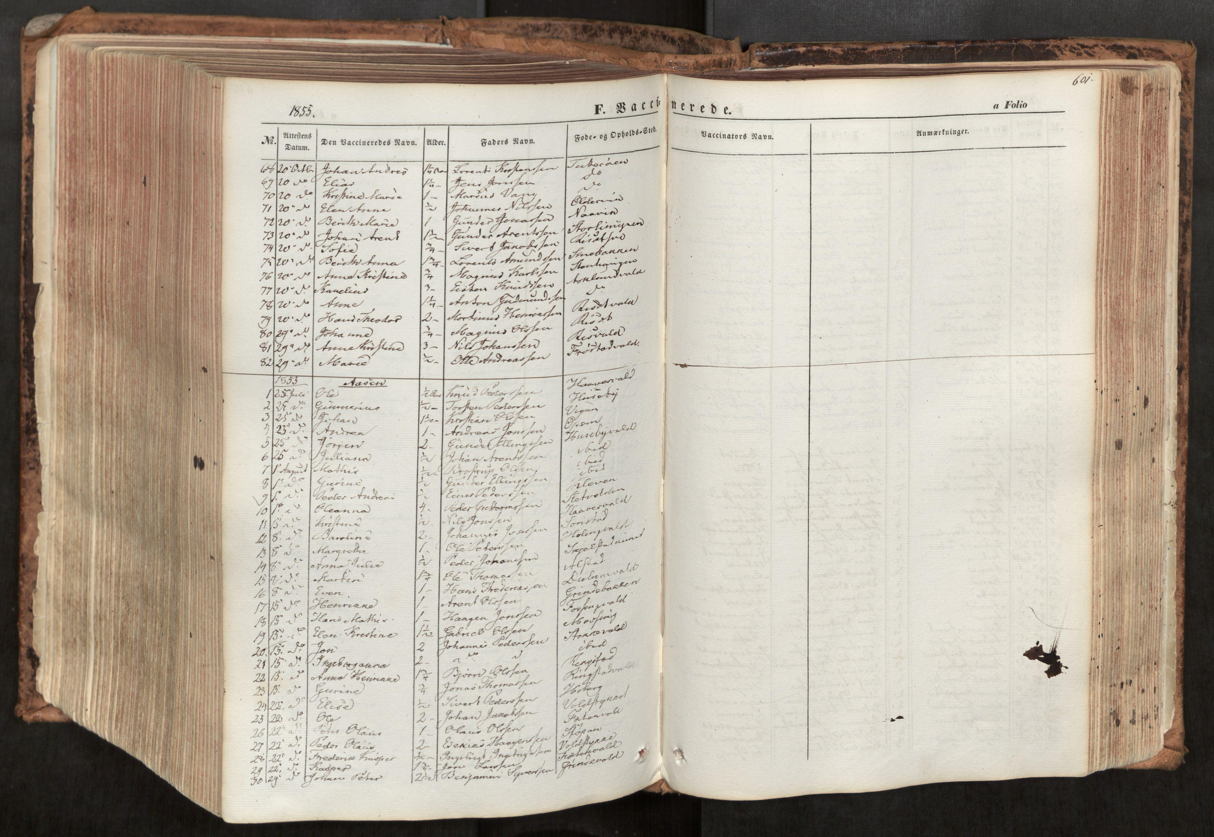 SAT, Ministerialprotokoller, klokkerbøker og fødselsregistre - Nord-Trøndelag, 713/L0116: Ministerialbok nr. 713A07, 1850-1877, s. 601
