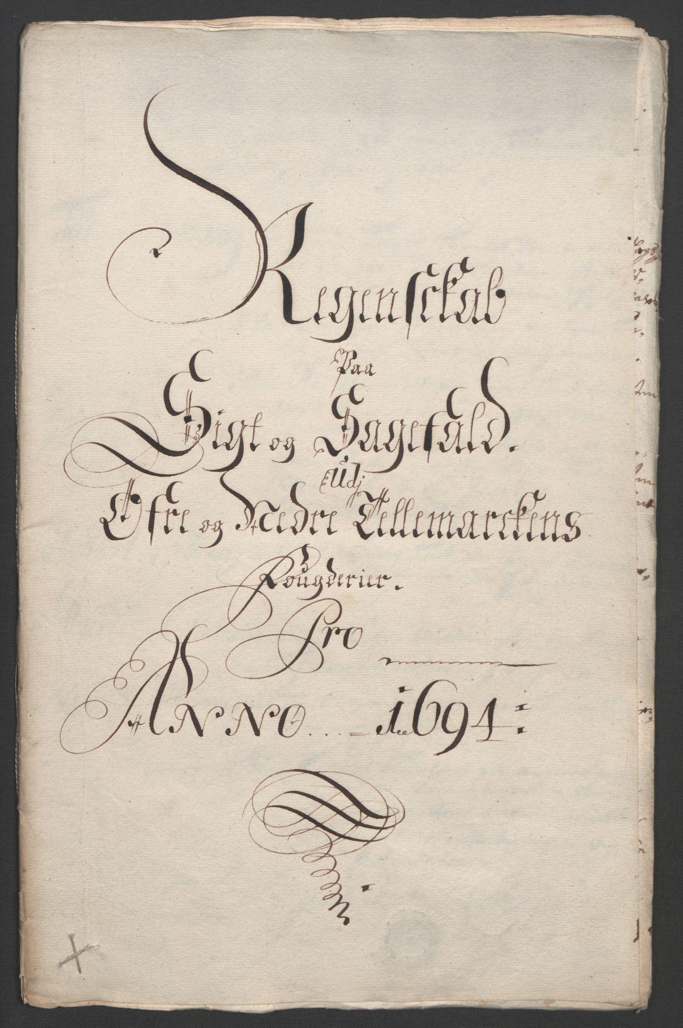 RA, Rentekammeret inntil 1814, Reviderte regnskaper, Fogderegnskap, R36/L2092: Fogderegnskap Øvre og Nedre Telemark og Bamble, 1694, s. 36