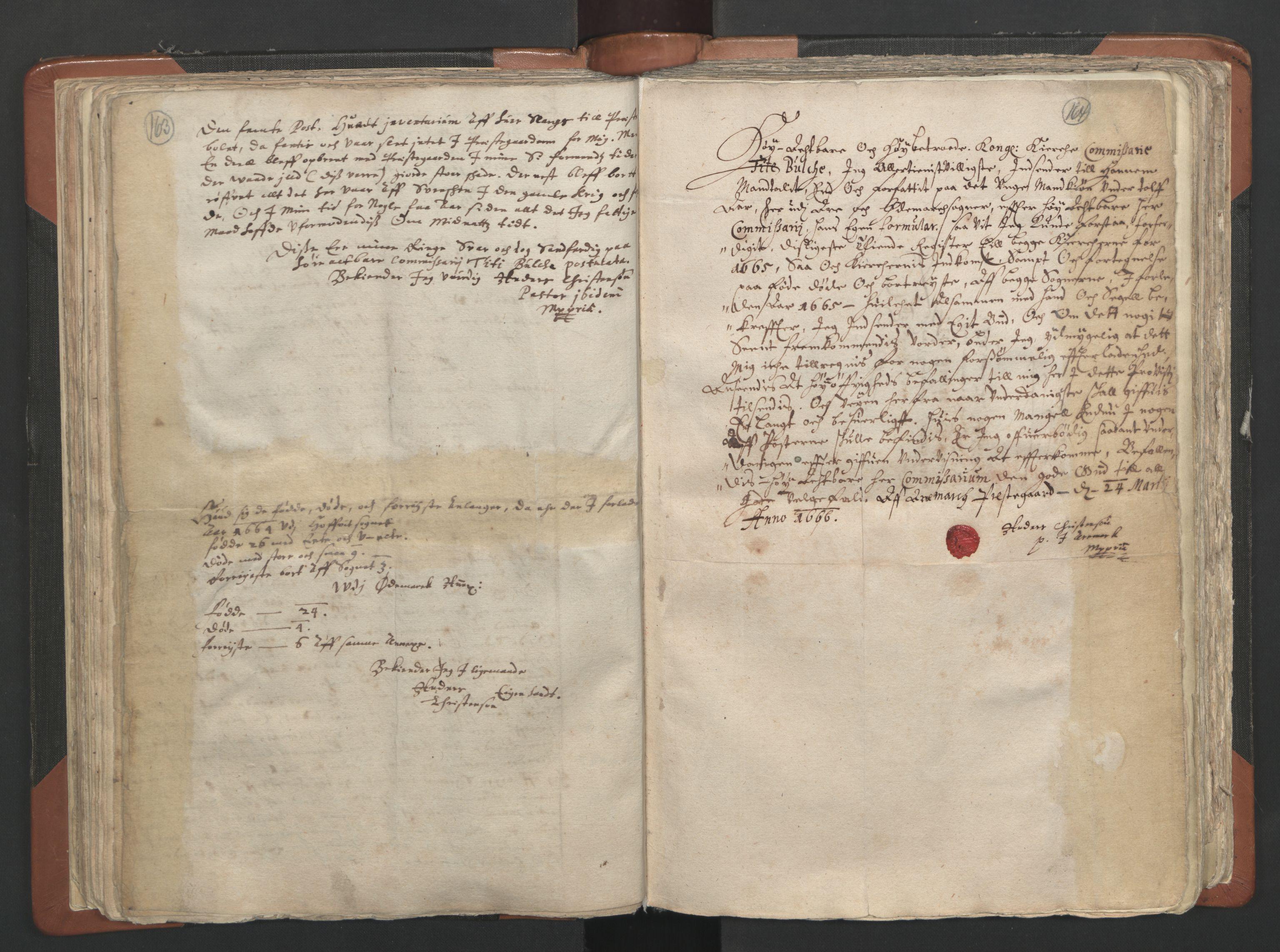 RA, Sogneprestenes manntall 1664-1666, nr. 2: Øvre Borgesyssel prosti, 1664-1666, s. 163-164