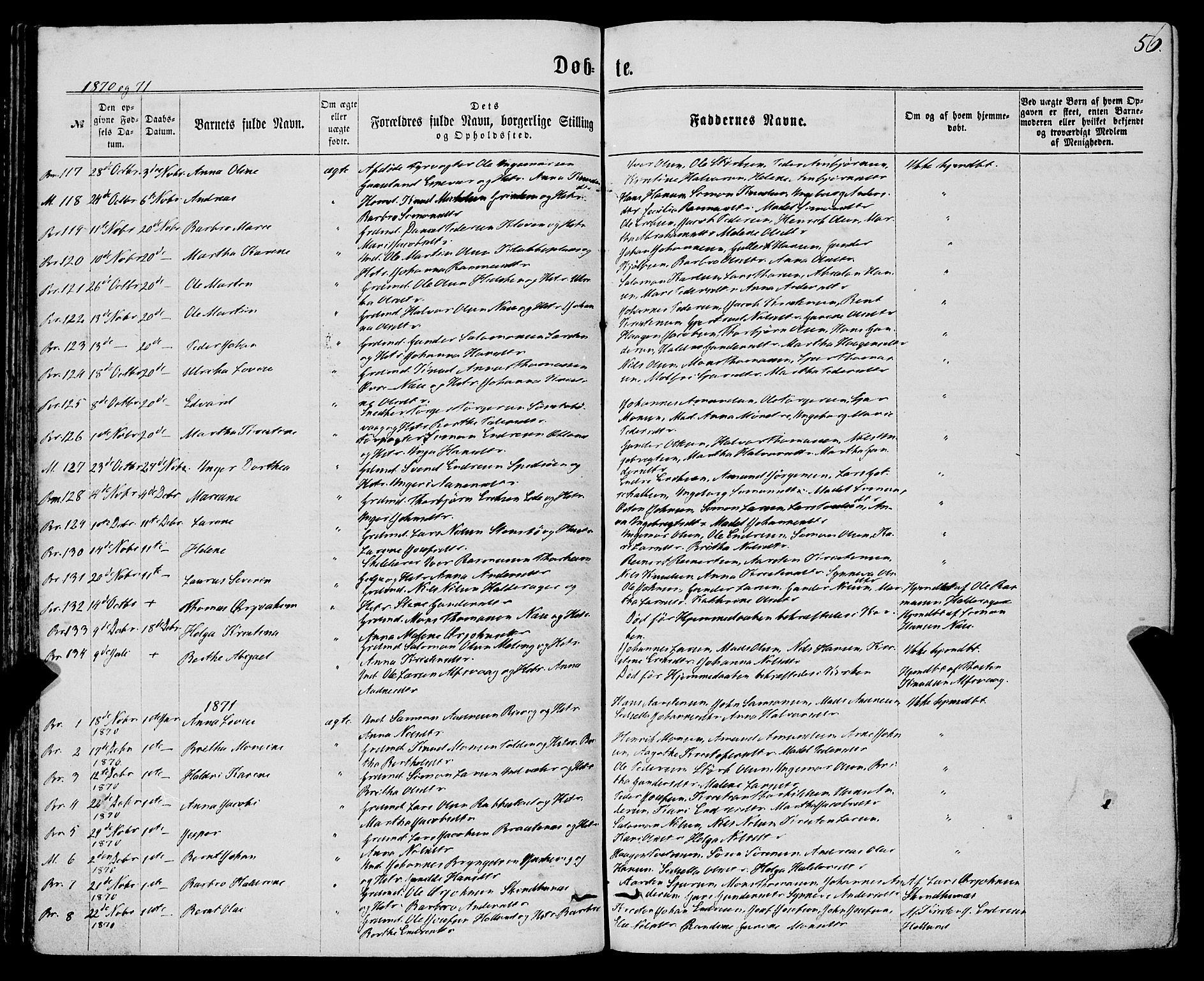 SAB, Finnås sokneprestembete, H/Ha/Haa/Haaa/L0008: Ministerialbok nr. A 8, 1863-1872, s. 56