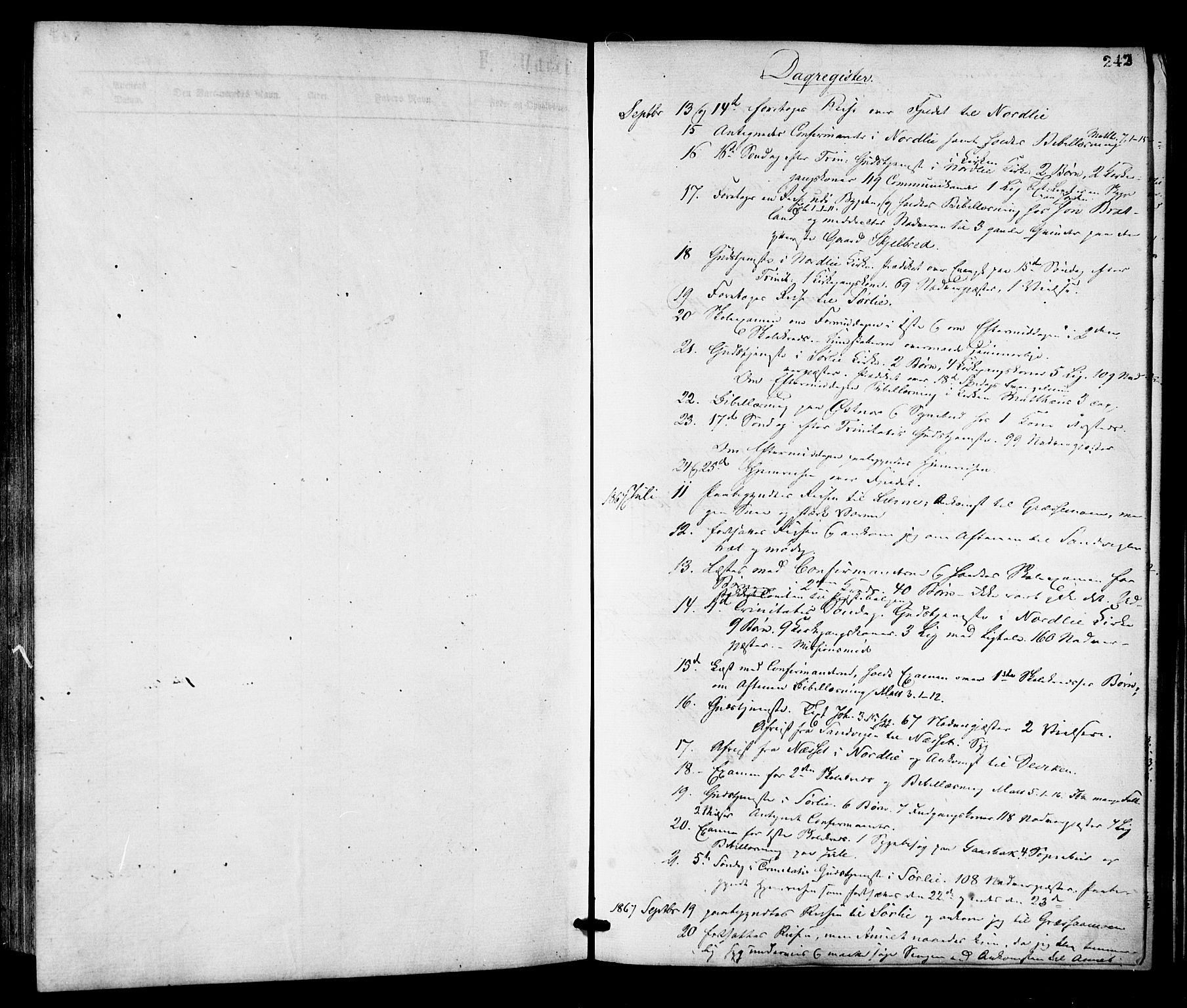 SAT, Ministerialprotokoller, klokkerbøker og fødselsregistre - Nord-Trøndelag, 755/L0493: Ministerialbok nr. 755A02, 1865-1881, s. 242