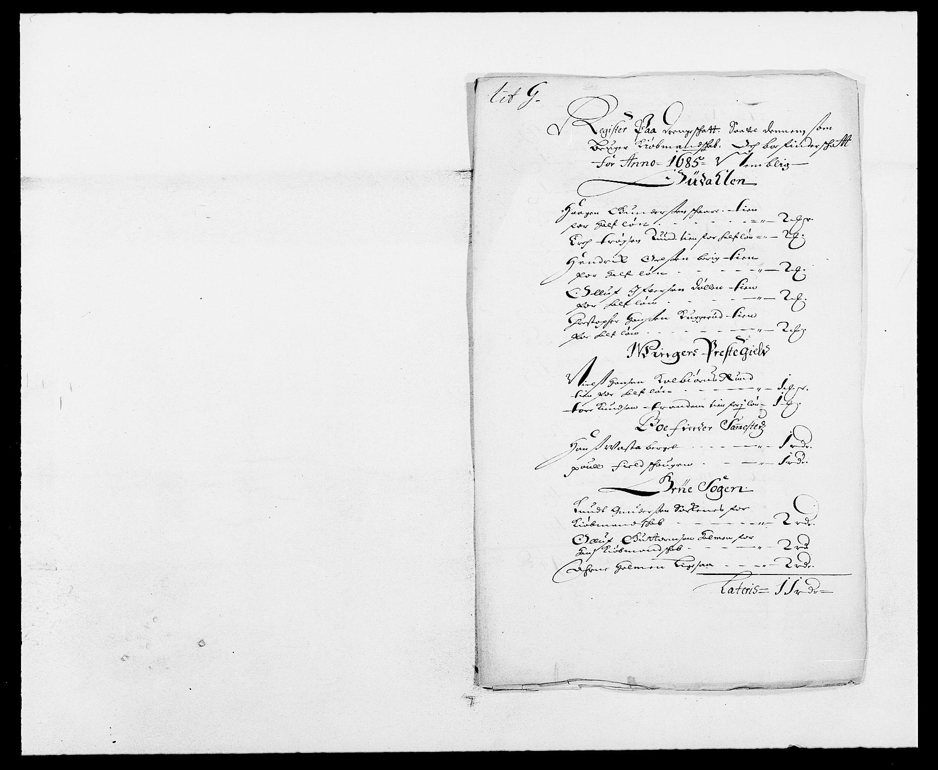 RA, Rentekammeret inntil 1814, Reviderte regnskaper, Fogderegnskap, R13/L0822: Fogderegnskap Solør, Odal og Østerdal, 1685, s. 206