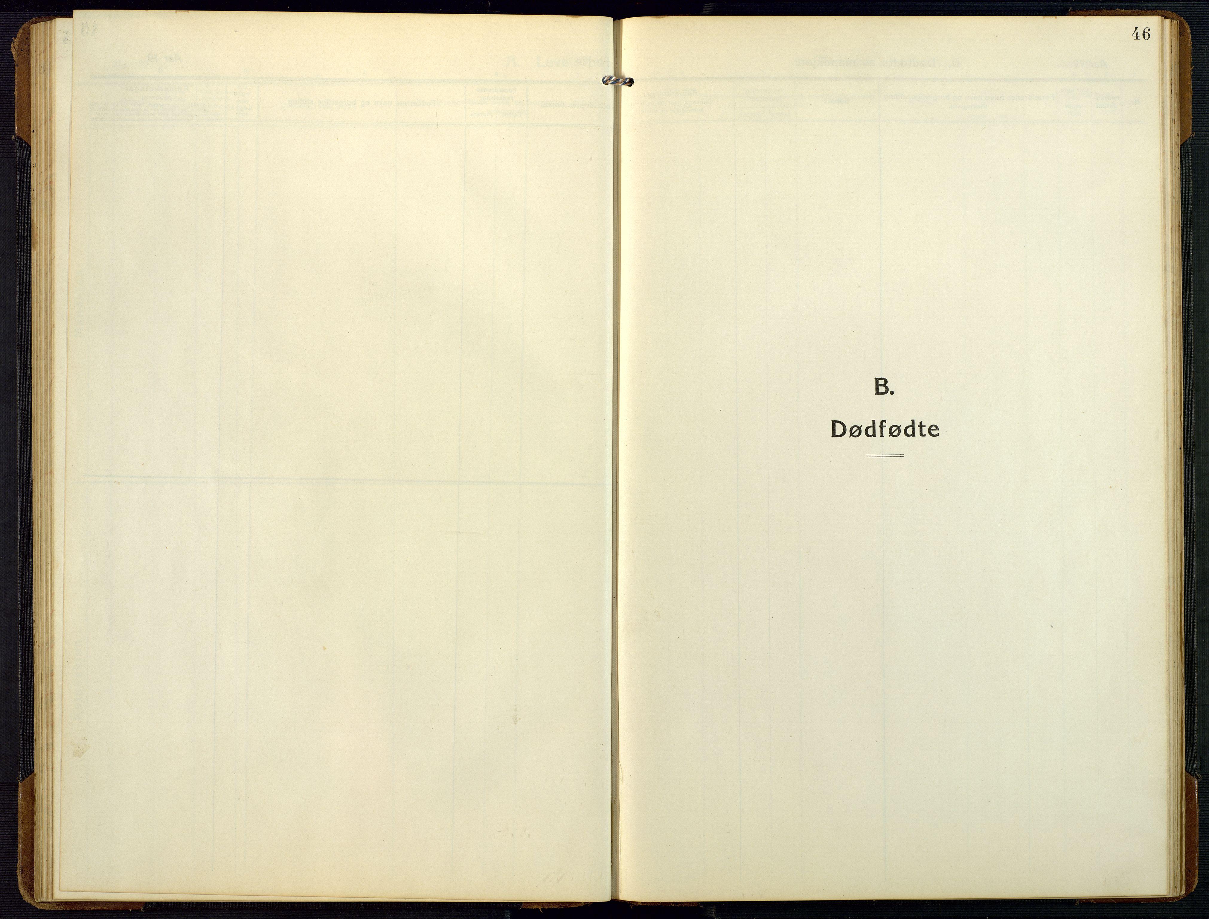 SAK, Bygland sokneprestkontor, F/Fb/Fbc/L0003: Klokkerbok nr. B 3, 1916-1975, s. 46