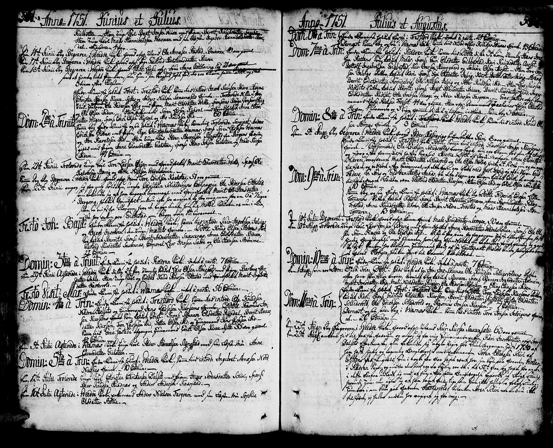 SAT, Ministerialprotokoller, klokkerbøker og fødselsregistre - Møre og Romsdal, 547/L0599: Ministerialbok nr. 547A01, 1721-1764, s. 341-342