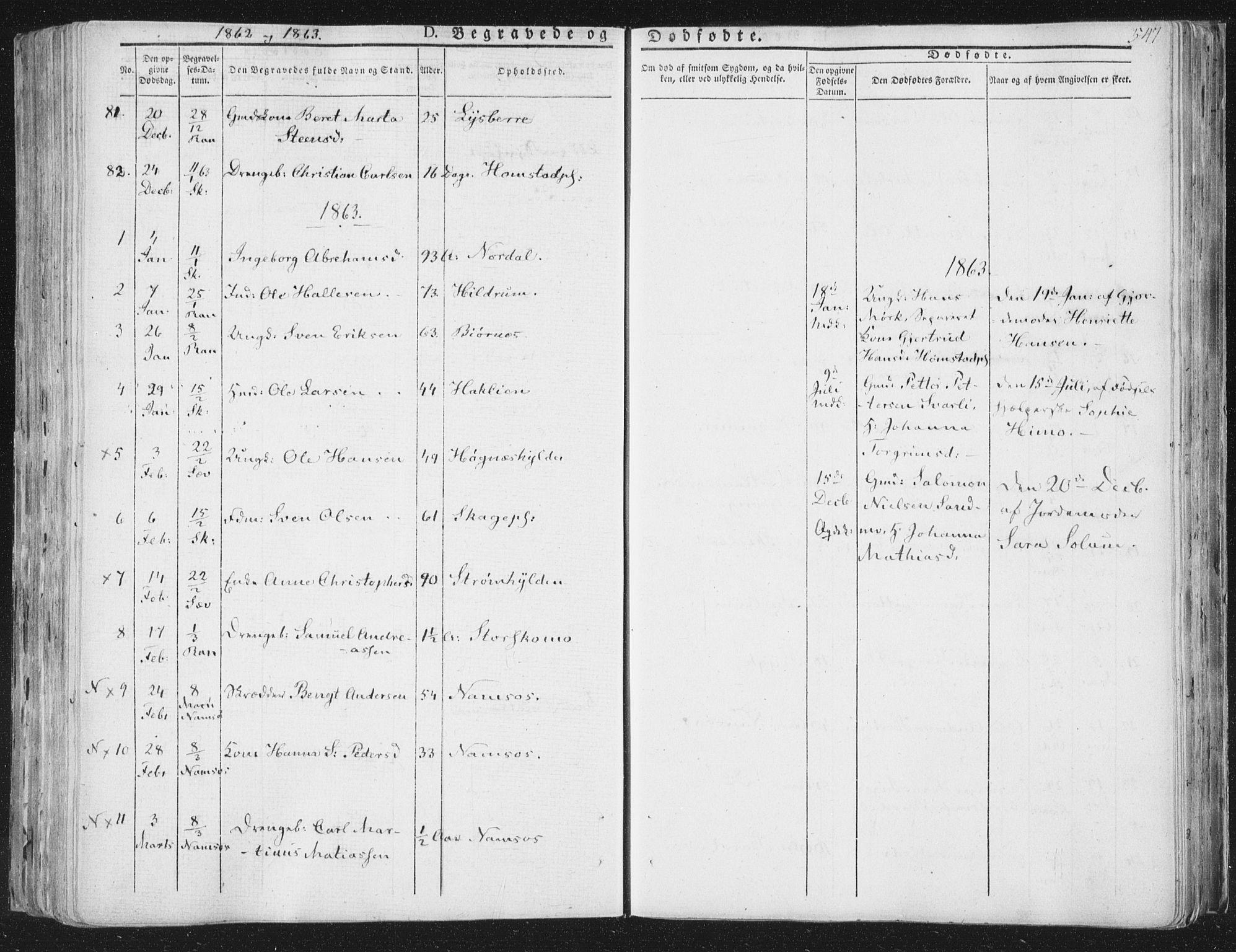 SAT, Ministerialprotokoller, klokkerbøker og fødselsregistre - Nord-Trøndelag, 764/L0552: Ministerialbok nr. 764A07b, 1824-1865, s. 547