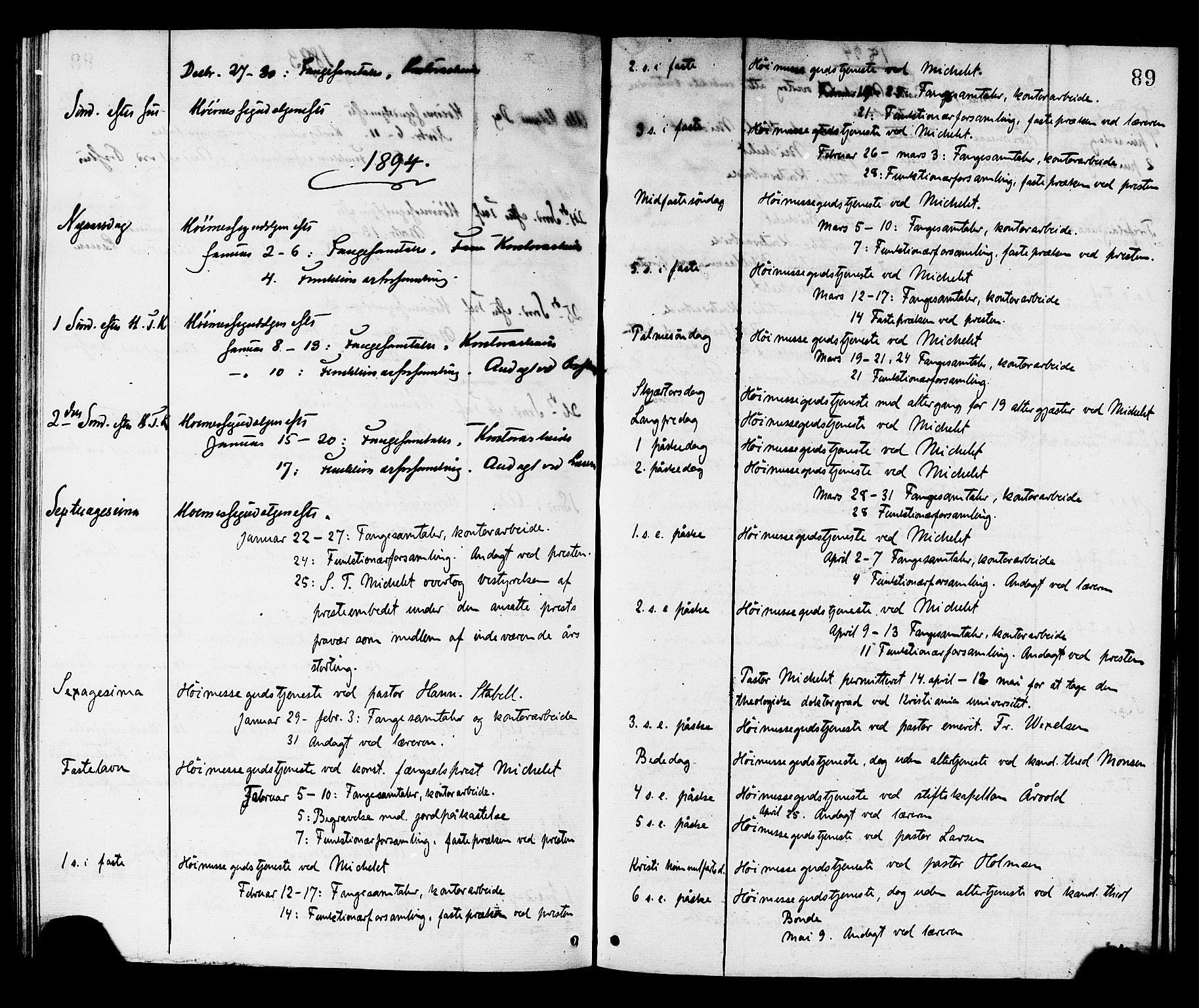 SAT, Ministerialprotokoller, klokkerbøker og fødselsregistre - Sør-Trøndelag, 624/L0482: Ministerialbok nr. 624A03, 1870-1918, s. 89