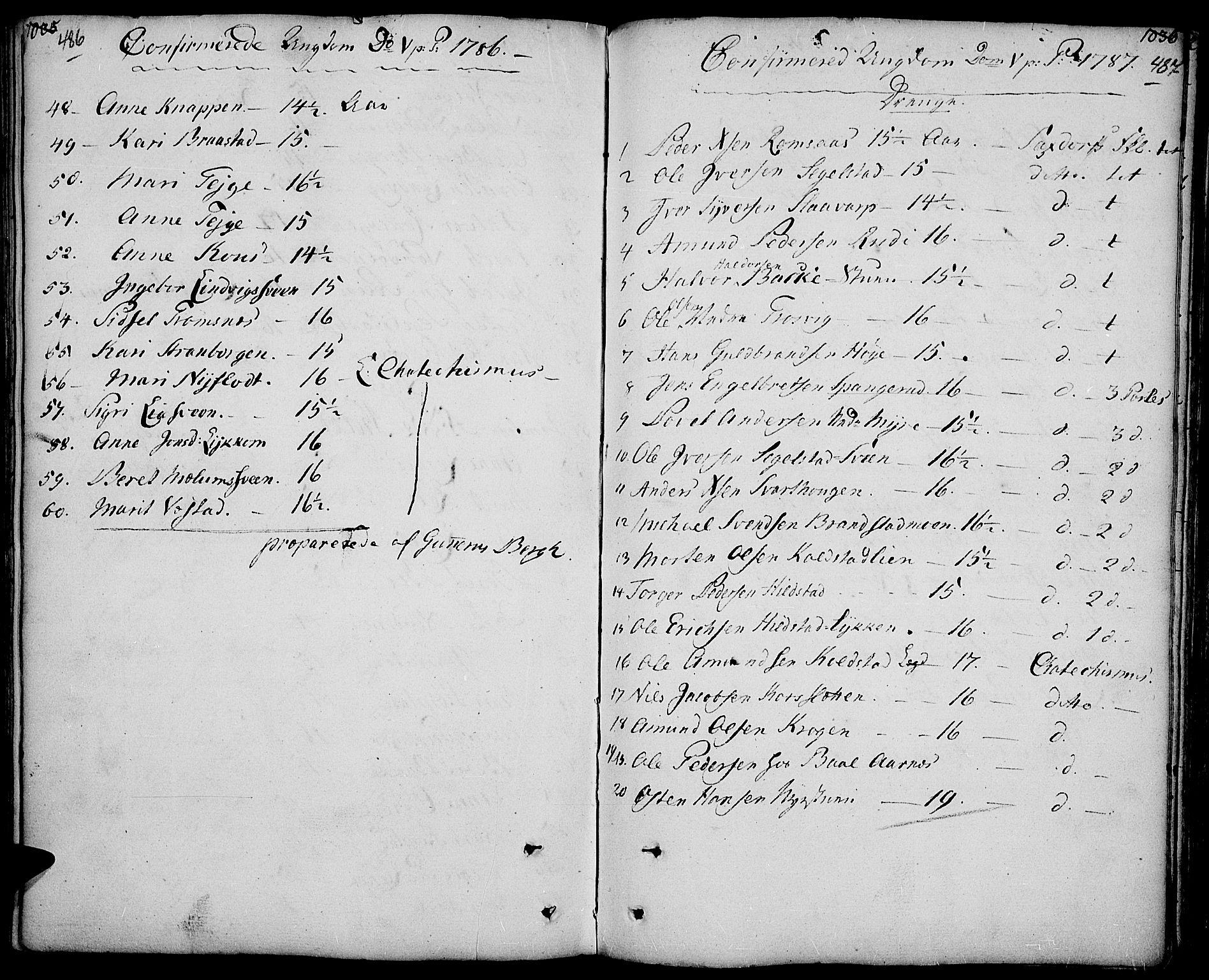 SAH, Ringebu prestekontor, Ministerialbok nr. 3, 1781-1820, s. 486-487