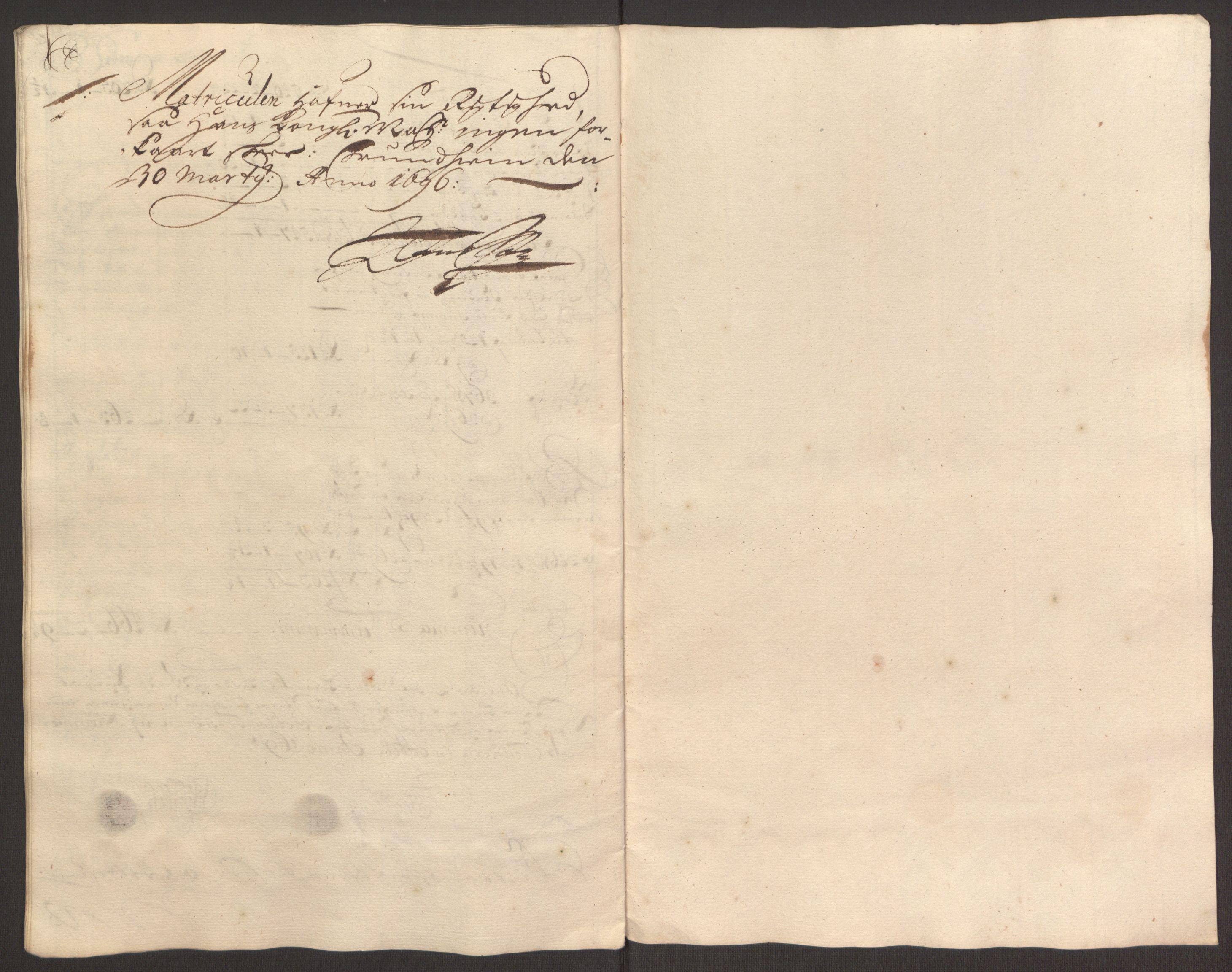 RA, Rentekammeret inntil 1814, Reviderte regnskaper, Fogderegnskap, R64/L4424: Fogderegnskap Namdal, 1692-1695, s. 477