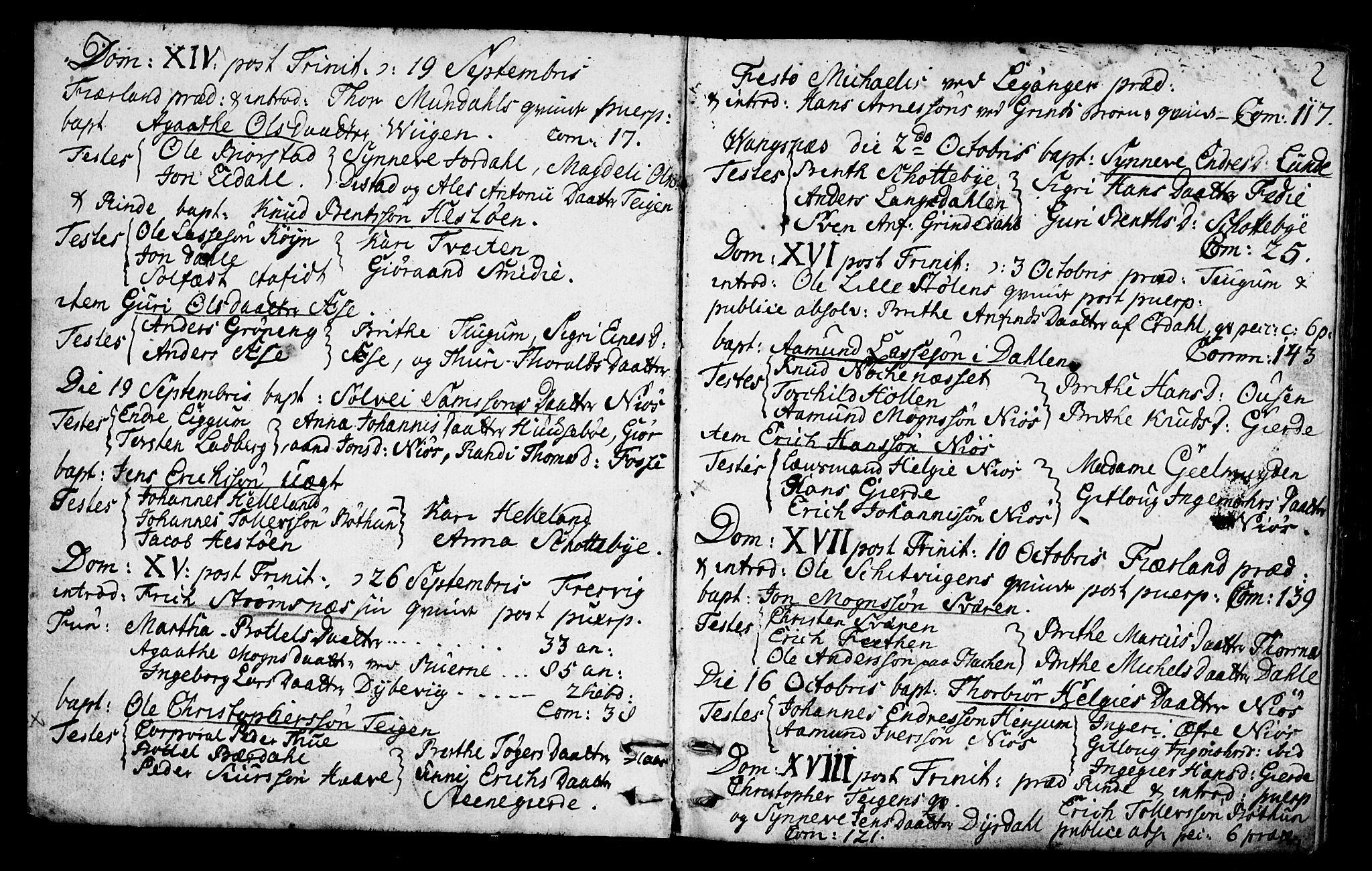 SAB, Leikanger Sokneprestembete, Ministerialbok nr. A 3, 1756-1770, s. 2
