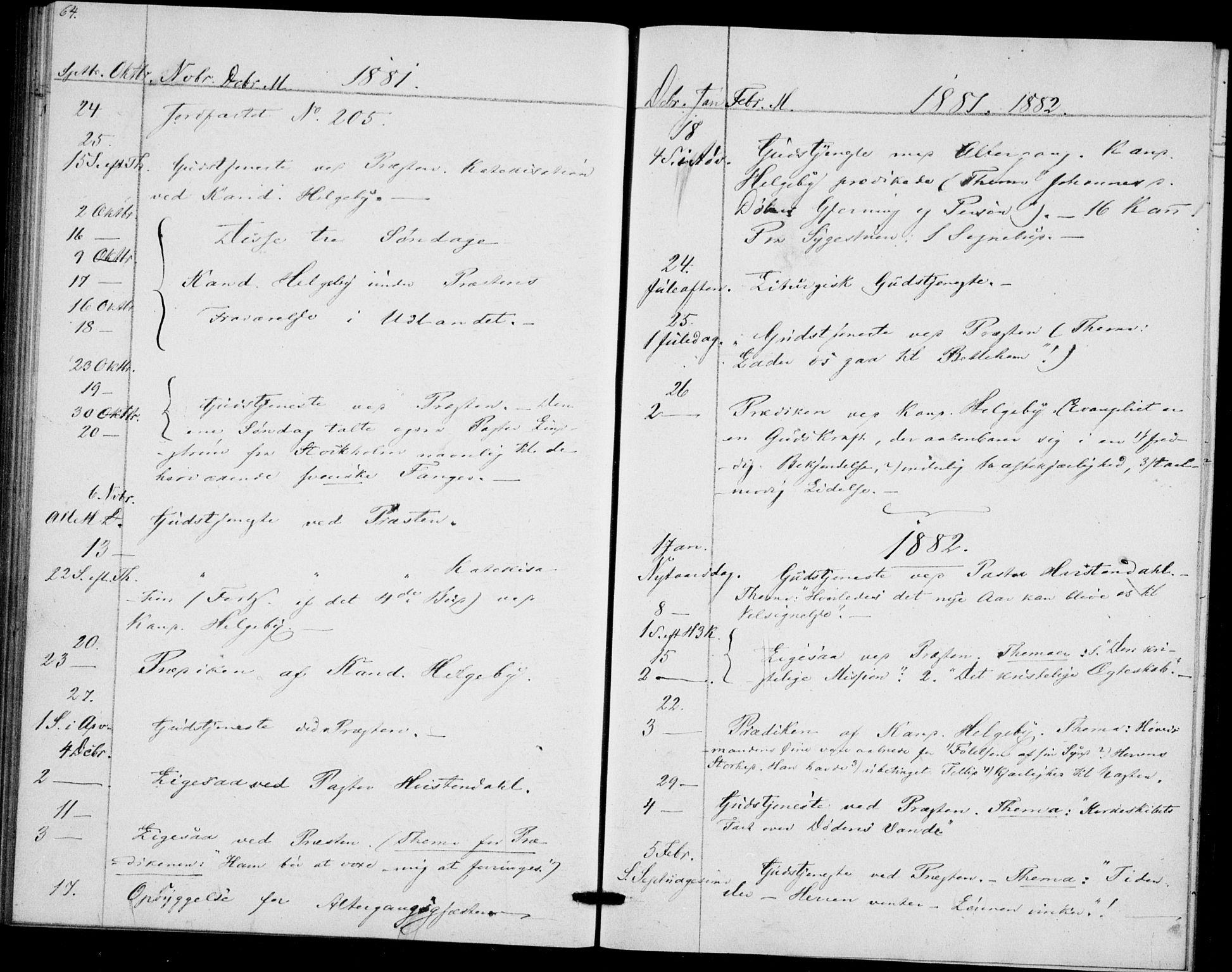 SAO, Akershus festnings slaveri Kirkebøker, F/Fa/L0002: Ministerialbok nr. 2, 1852-1883, s. 64