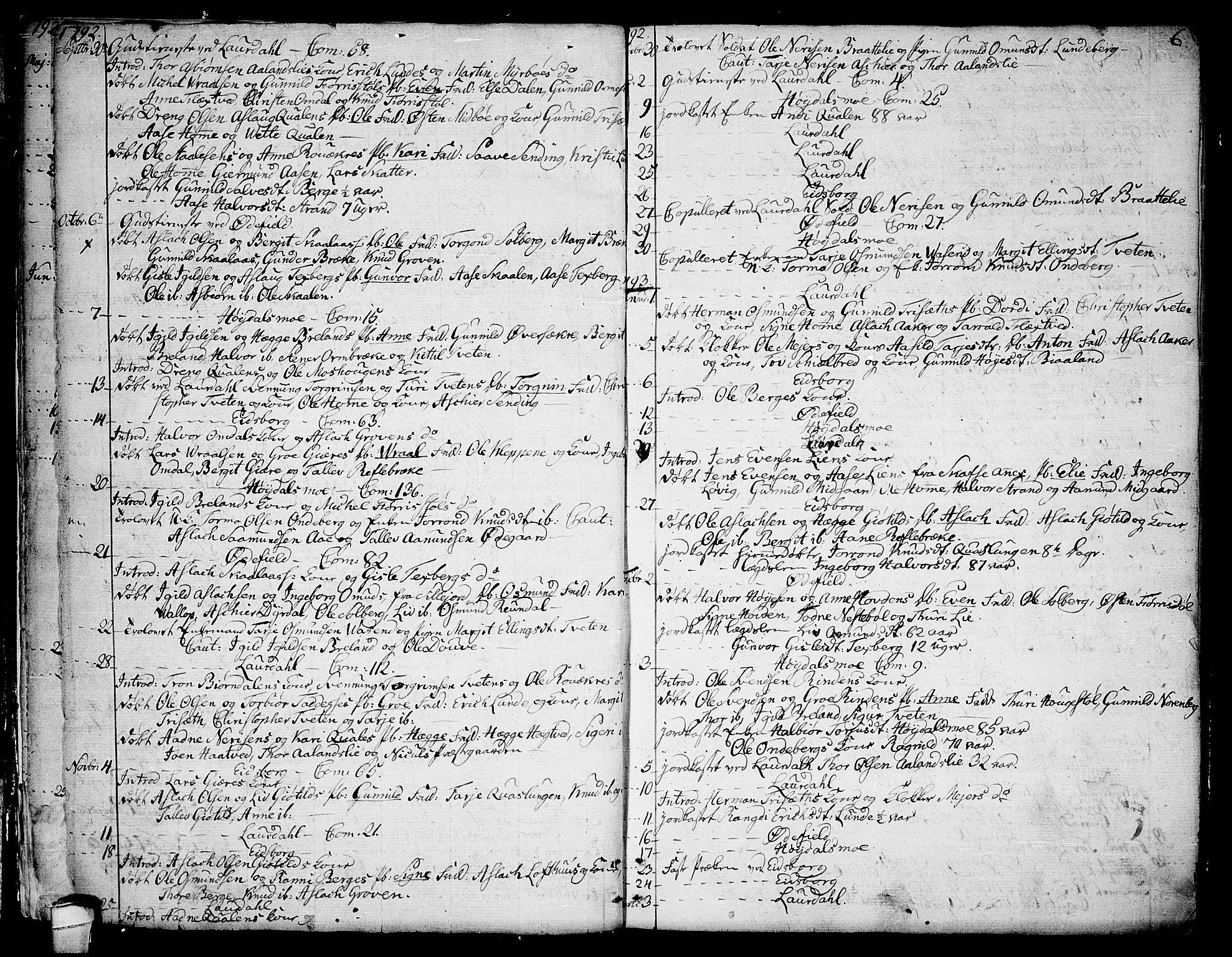 SAKO, Lårdal kirkebøker, F/Fa/L0004: Ministerialbok nr. I 4, 1790-1814, s. 6