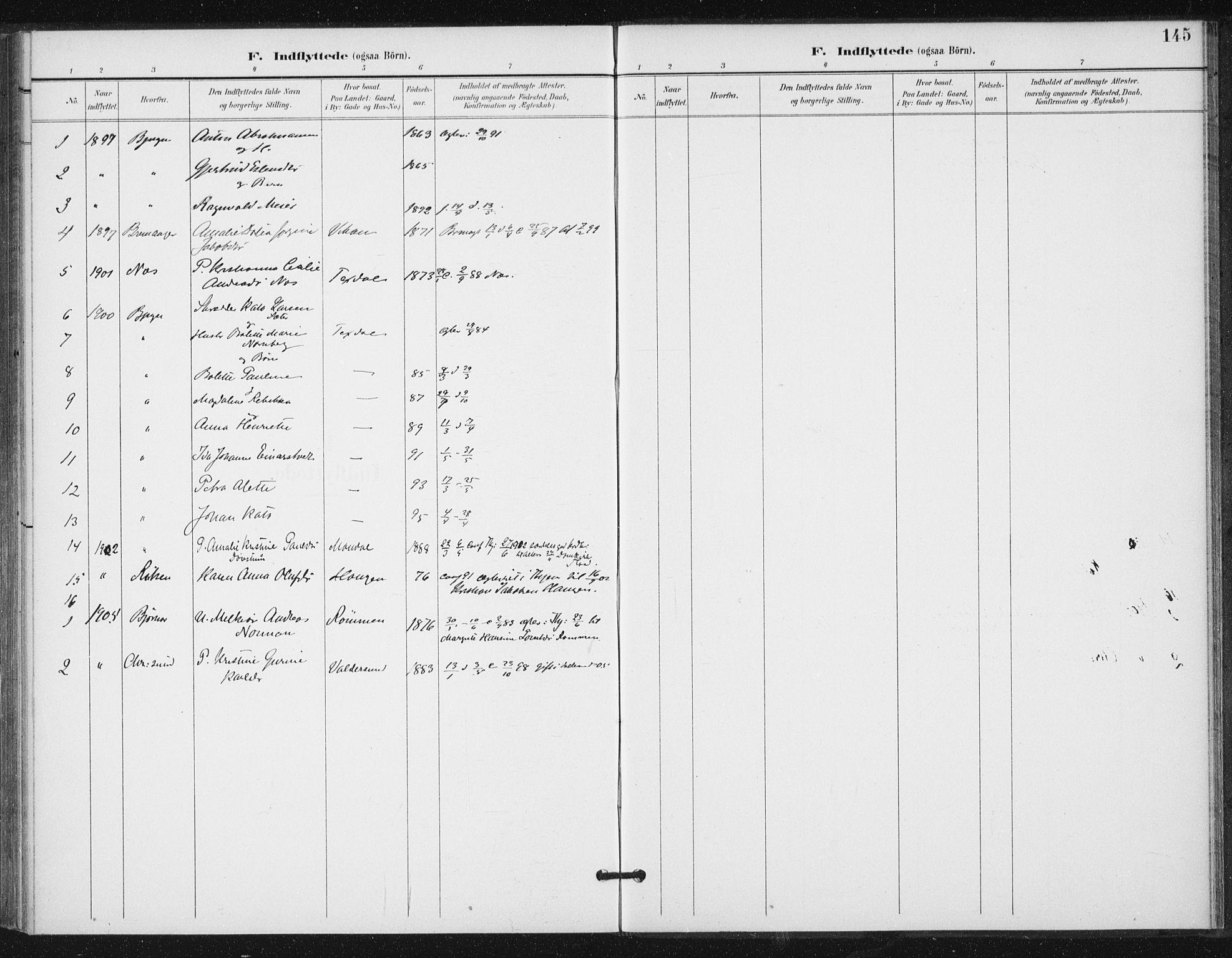 SAT, Ministerialprotokoller, klokkerbøker og fødselsregistre - Sør-Trøndelag, 654/L0664: Ministerialbok nr. 654A02, 1895-1907, s. 145