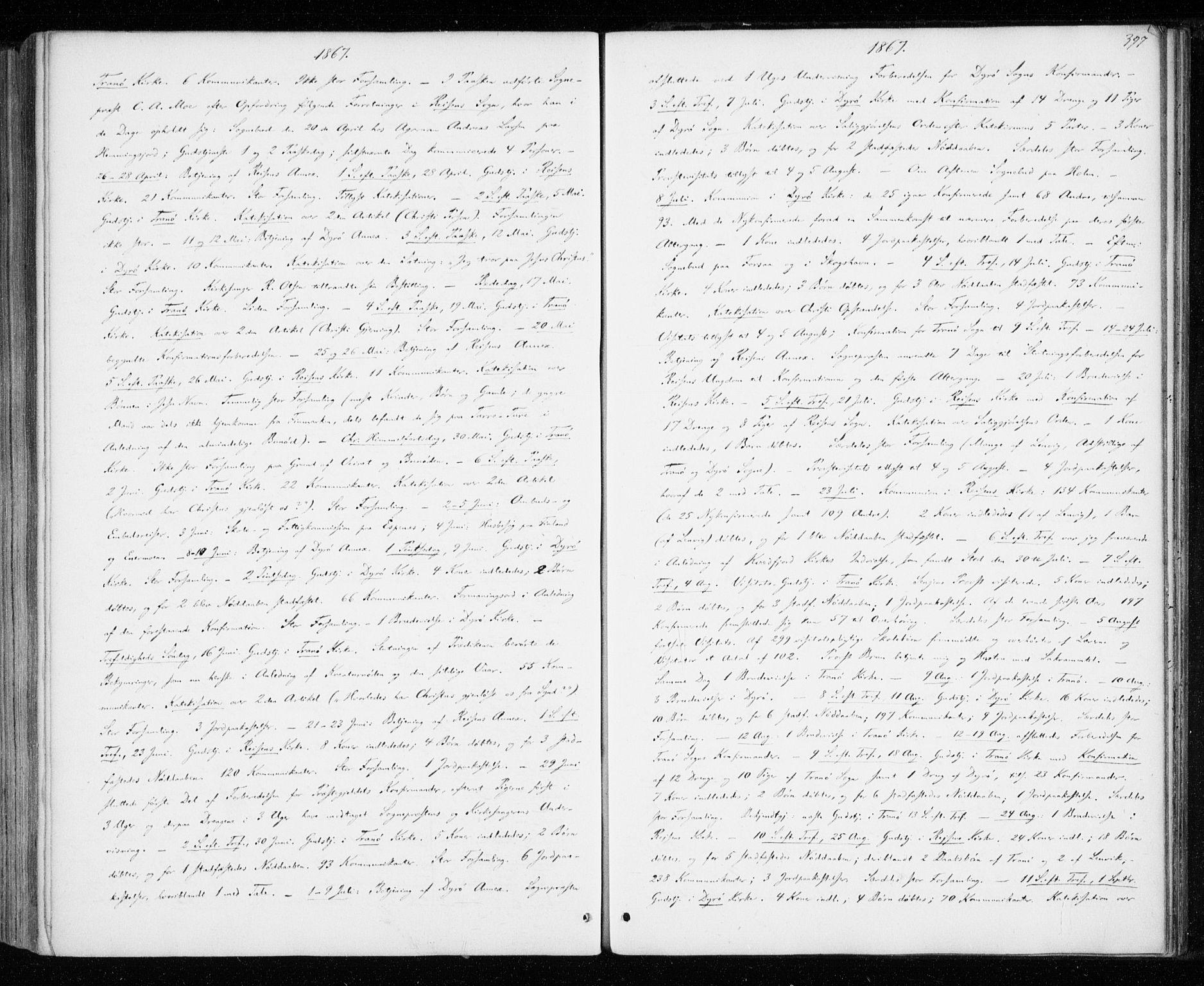 SATØ, Tranøy sokneprestkontor, I/Ia/Iaa/L0008kirke: Ministerialbok nr. 8, 1867-1877, s. 397