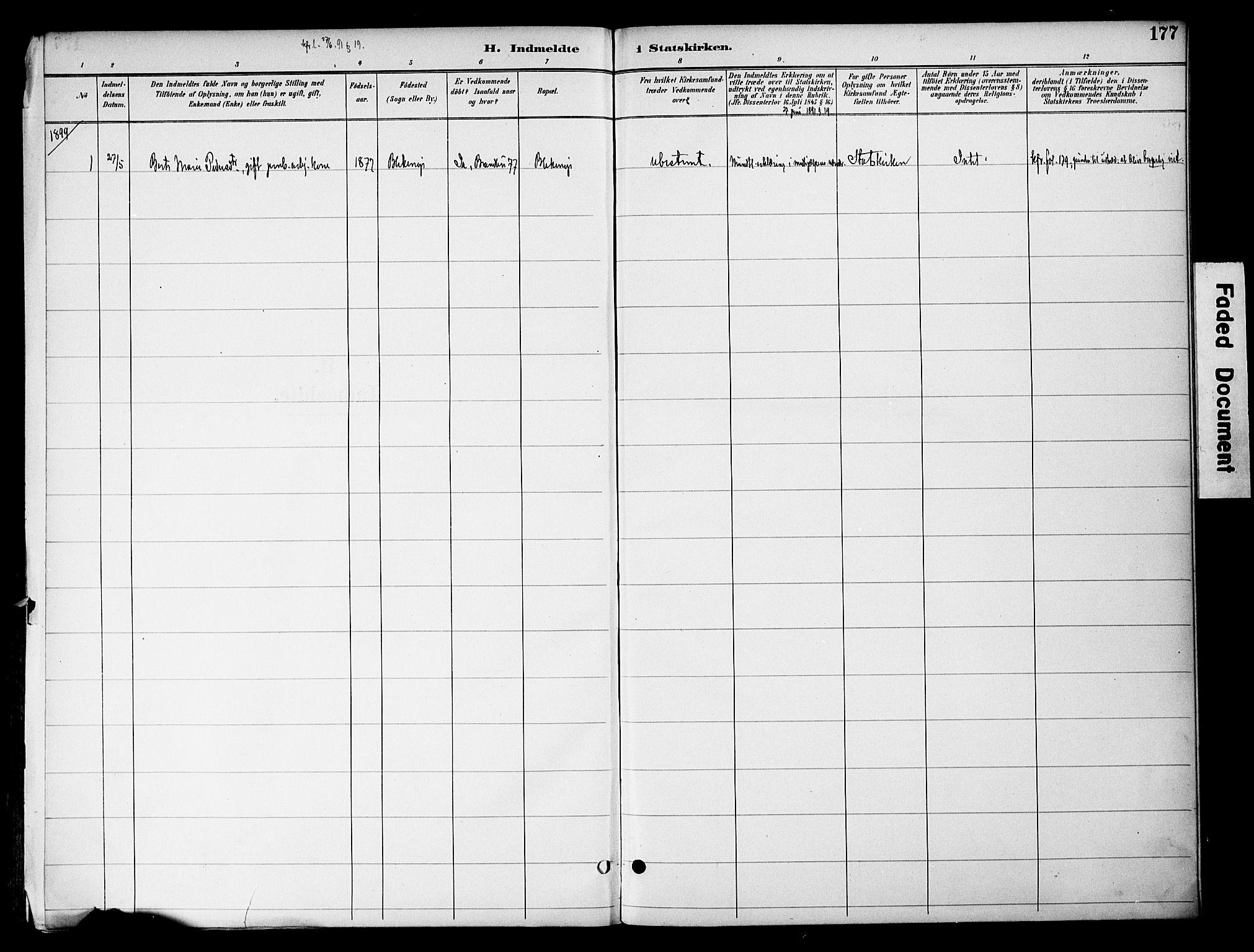 SAH, Gran prestekontor, Ministerialbok nr. 20, 1889-1899, s. 177