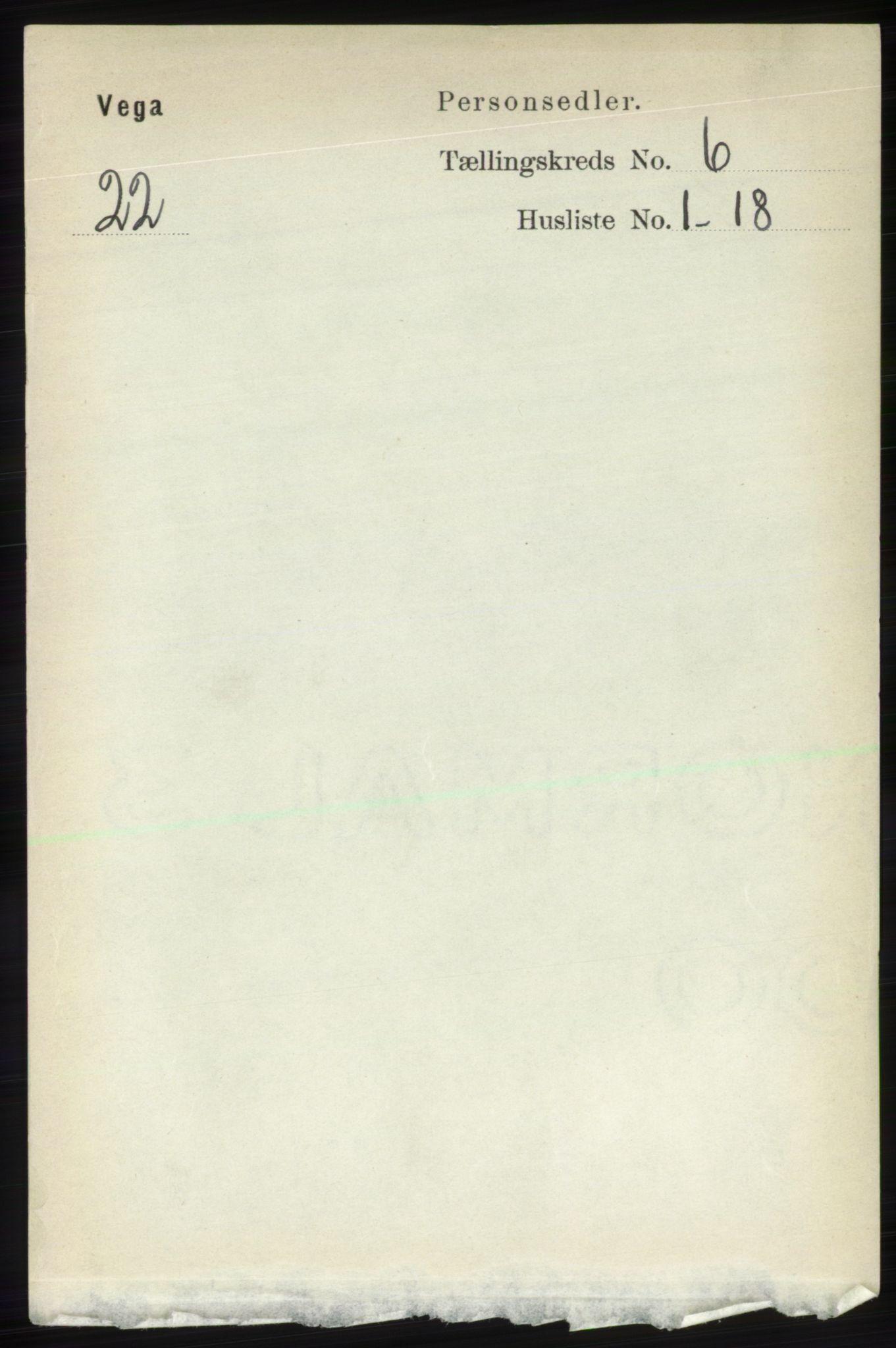 RA, Folketelling 1891 for 1815 Vega herred, 1891, s. 2563