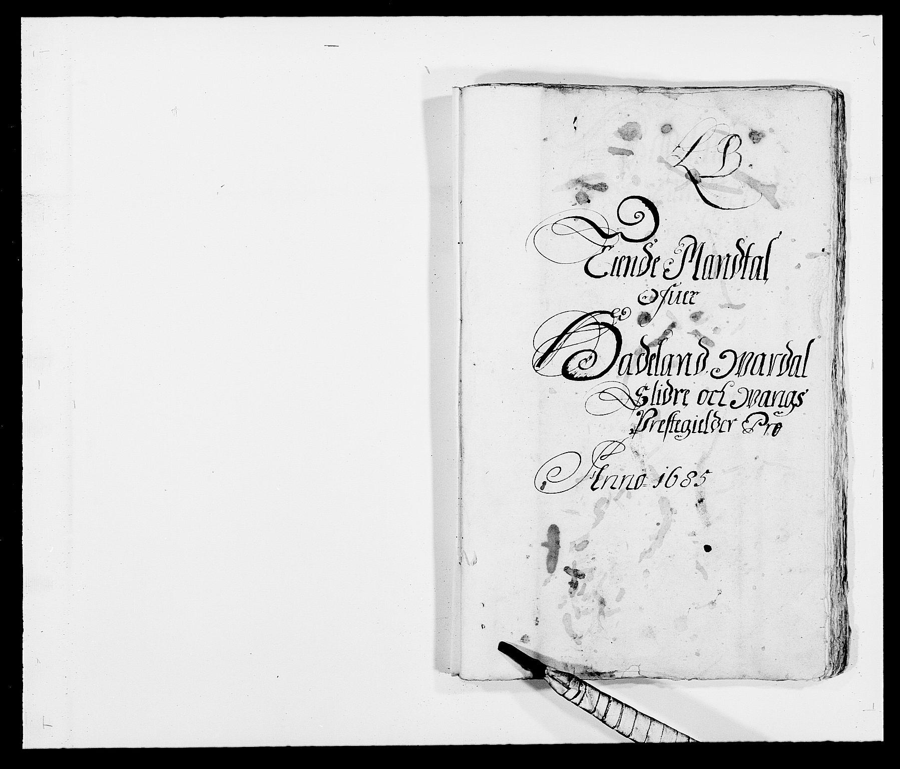 RA, Rentekammeret inntil 1814, Reviderte regnskaper, Fogderegnskap, R18/L1284: Fogderegnskap Hadeland, Toten og Valdres, 1685, s. 88